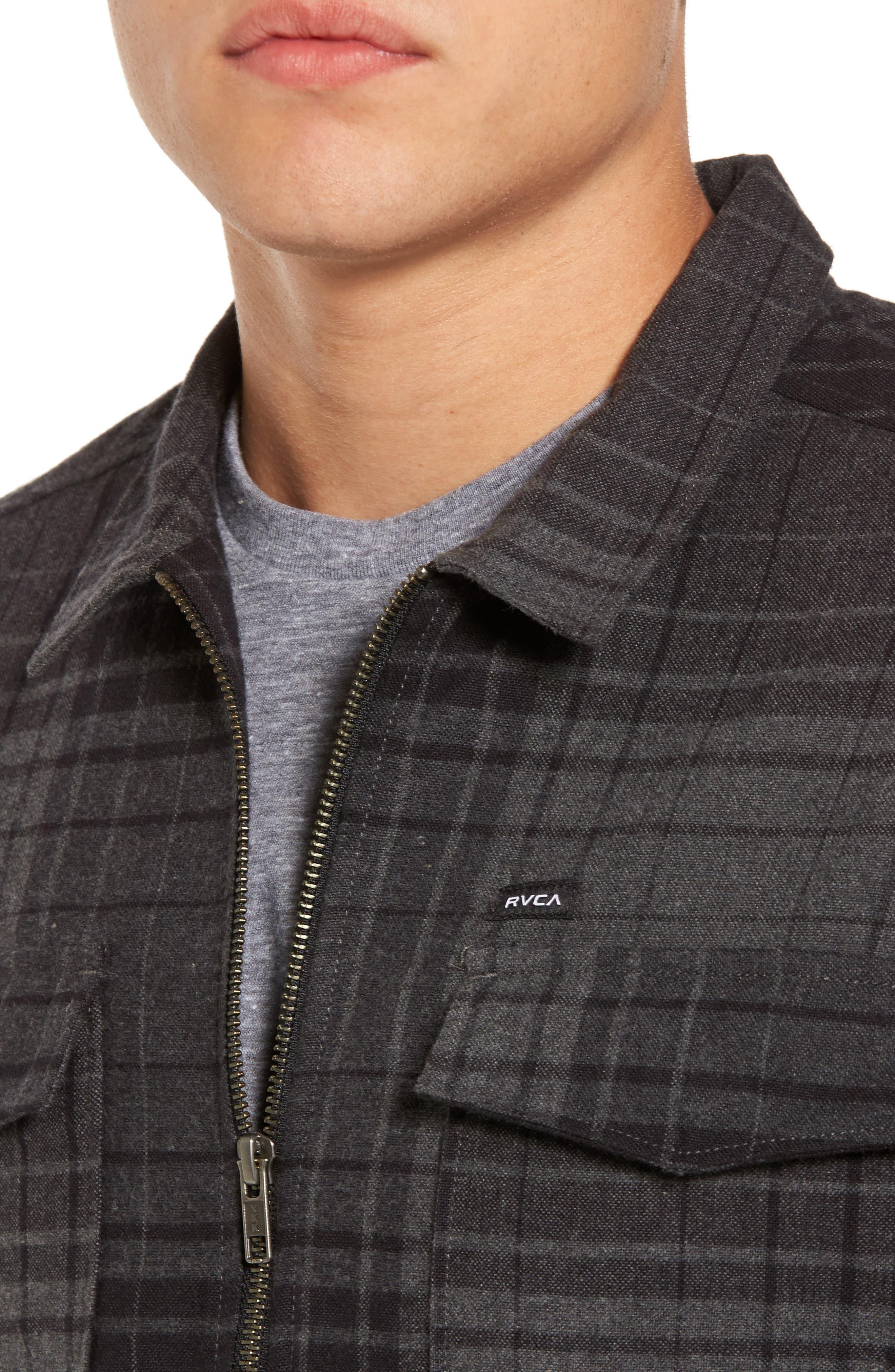Lamar Shirt Jacket,                             Alternate thumbnail 4, color,                             Black