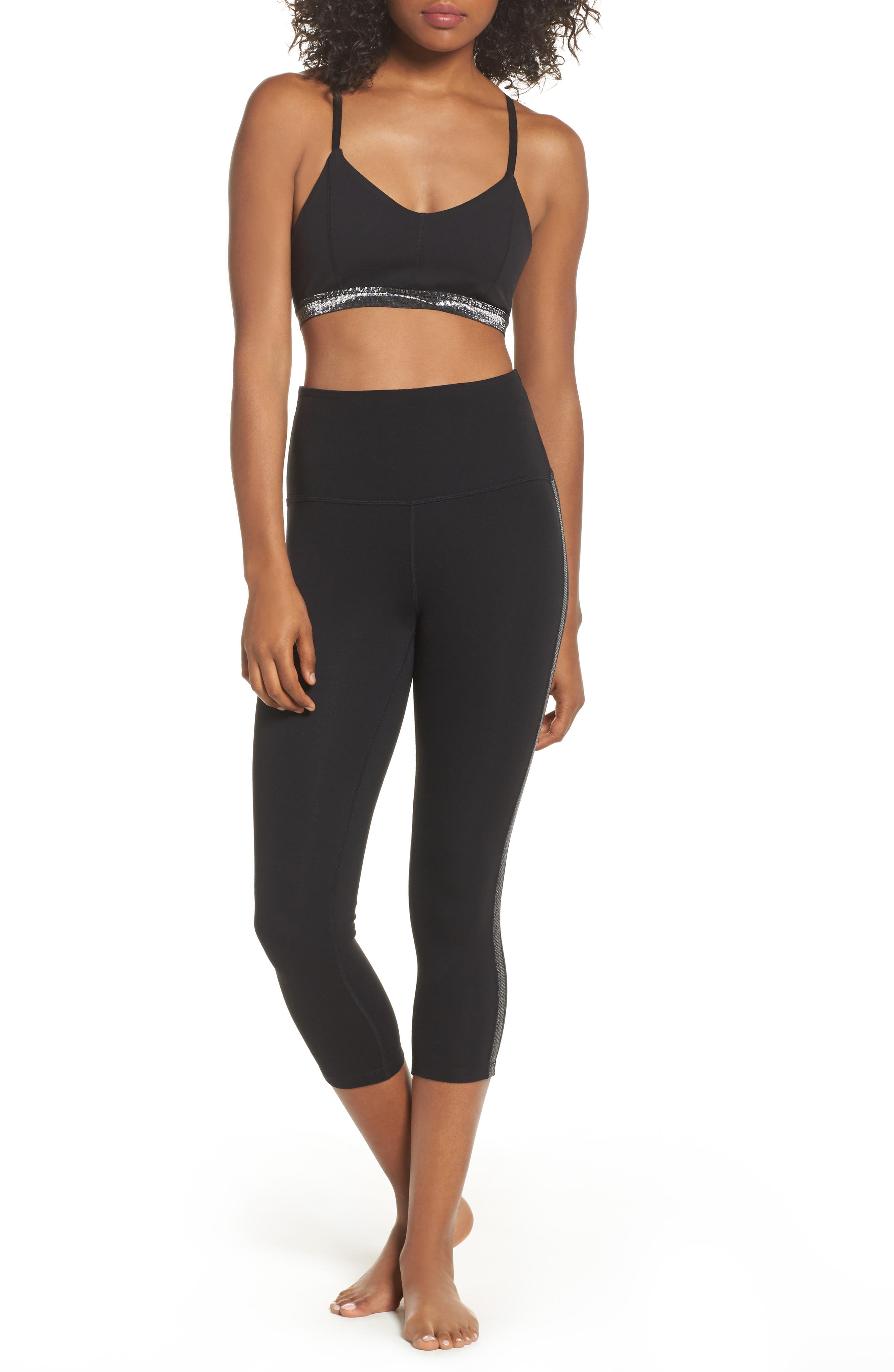 Alternate Image 2  - Beyond Yoga Fit & Trim High Waist Capri Leggings
