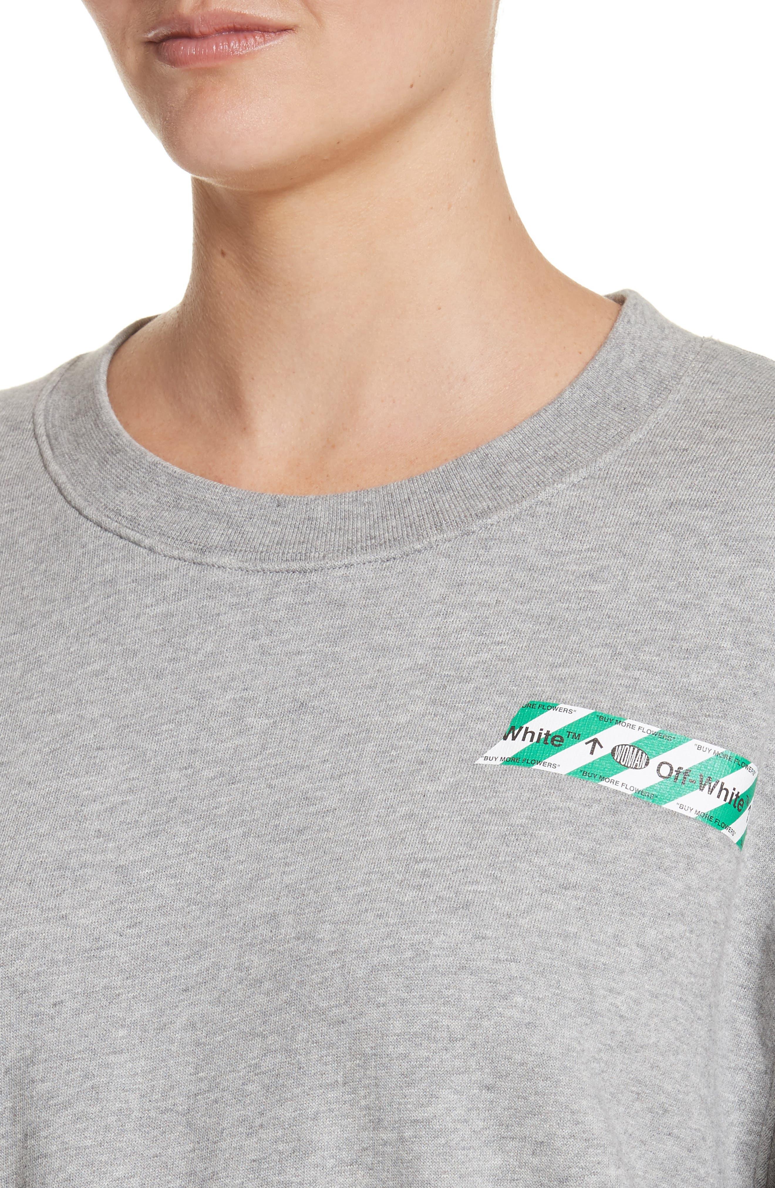 Alternate Image 4  - Off-White Woman Tape Crop Crewneck Sweater