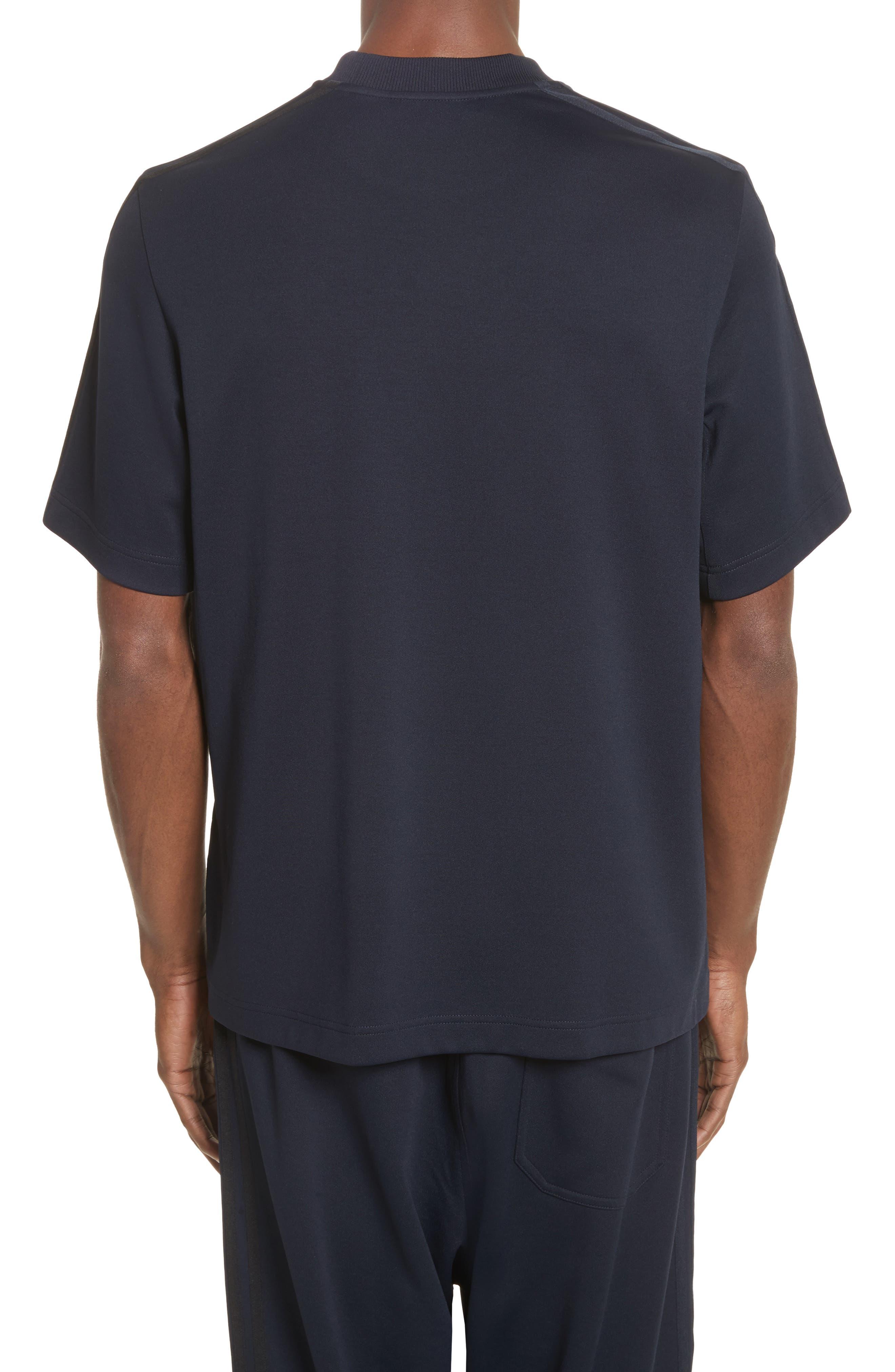 x adidas Tonal Stripe Crewneck T-Shirt,                             Alternate thumbnail 2, color,                             Navy