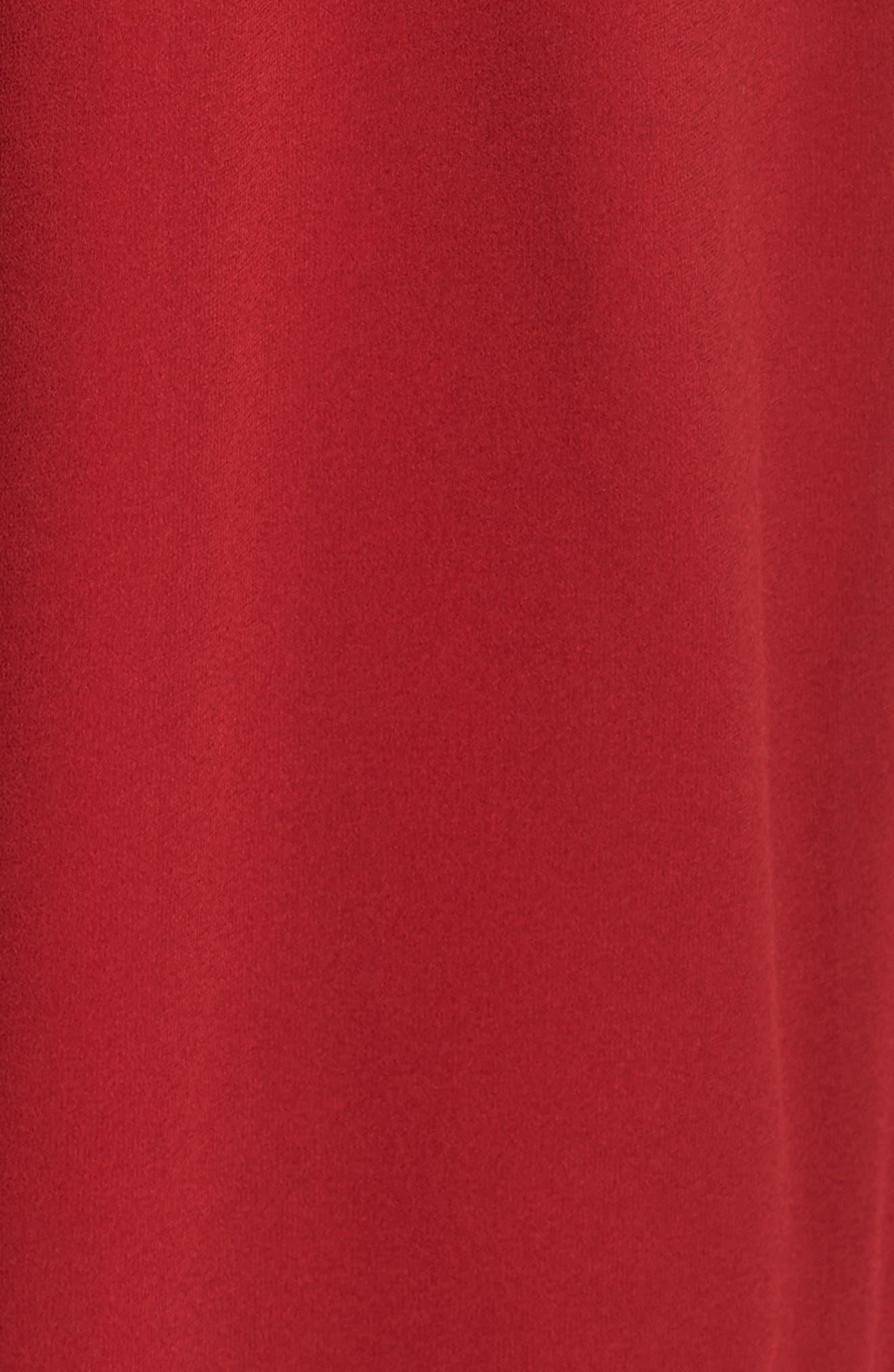 Ruffle Midi Dress,                             Alternate thumbnail 6, color,                             Red Jester