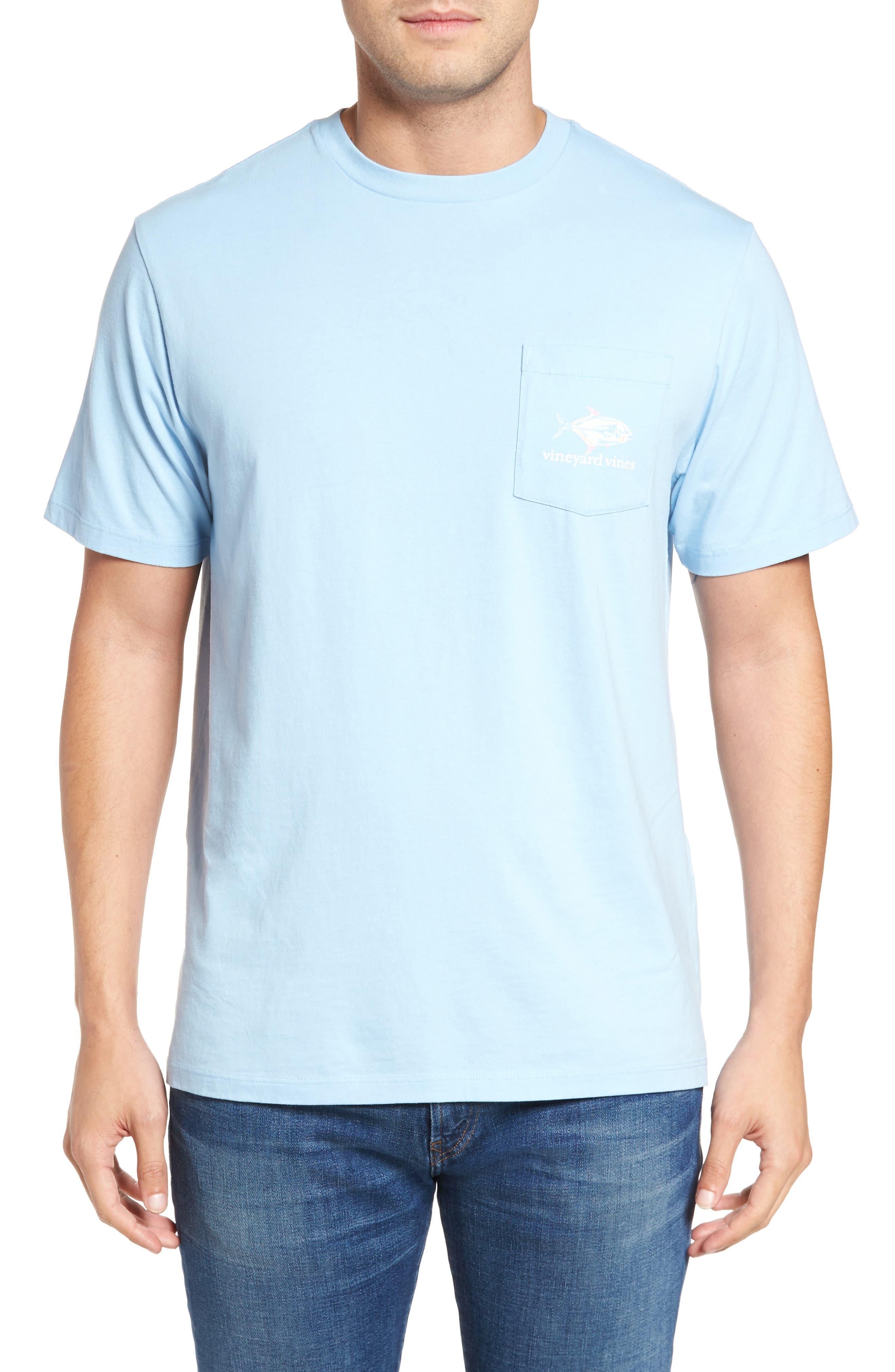 Painted Permit Graphic Pocket T-Shirt,                             Alternate thumbnail 2, color,                             Jake Blue