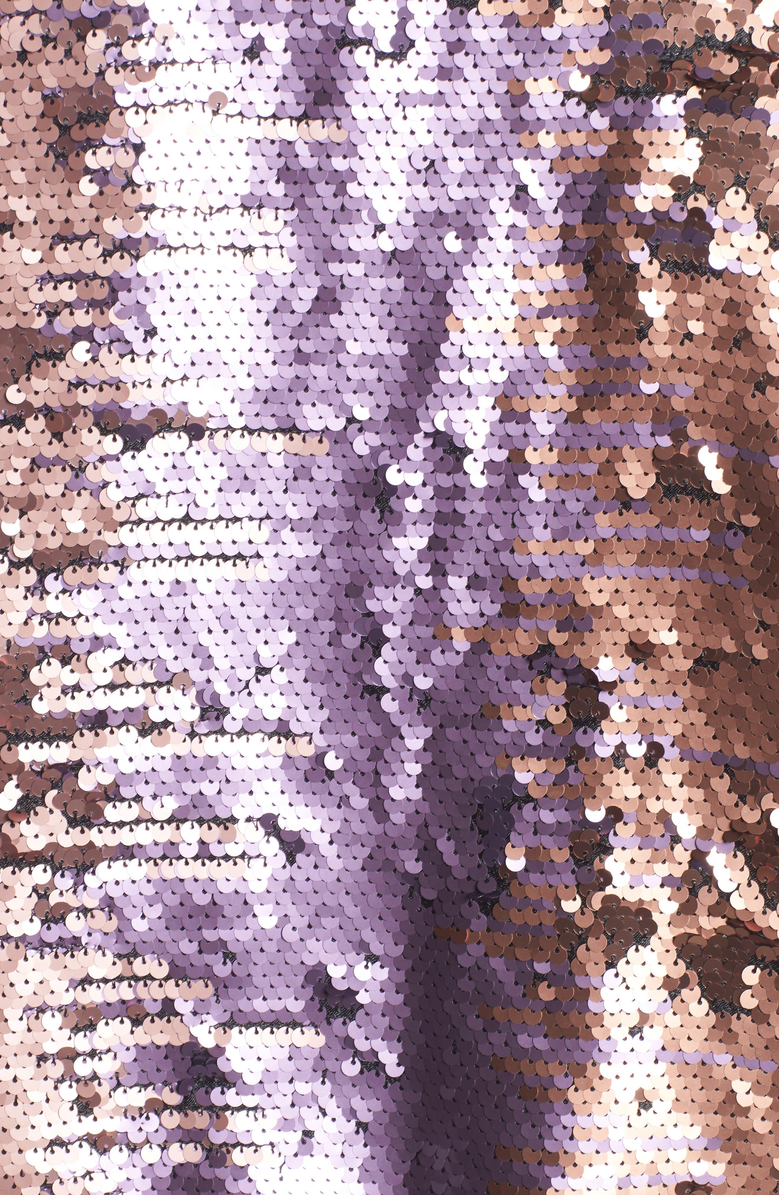 Pailette Bomber Jacket,                             Alternate thumbnail 7, color,                             Blush Purple
