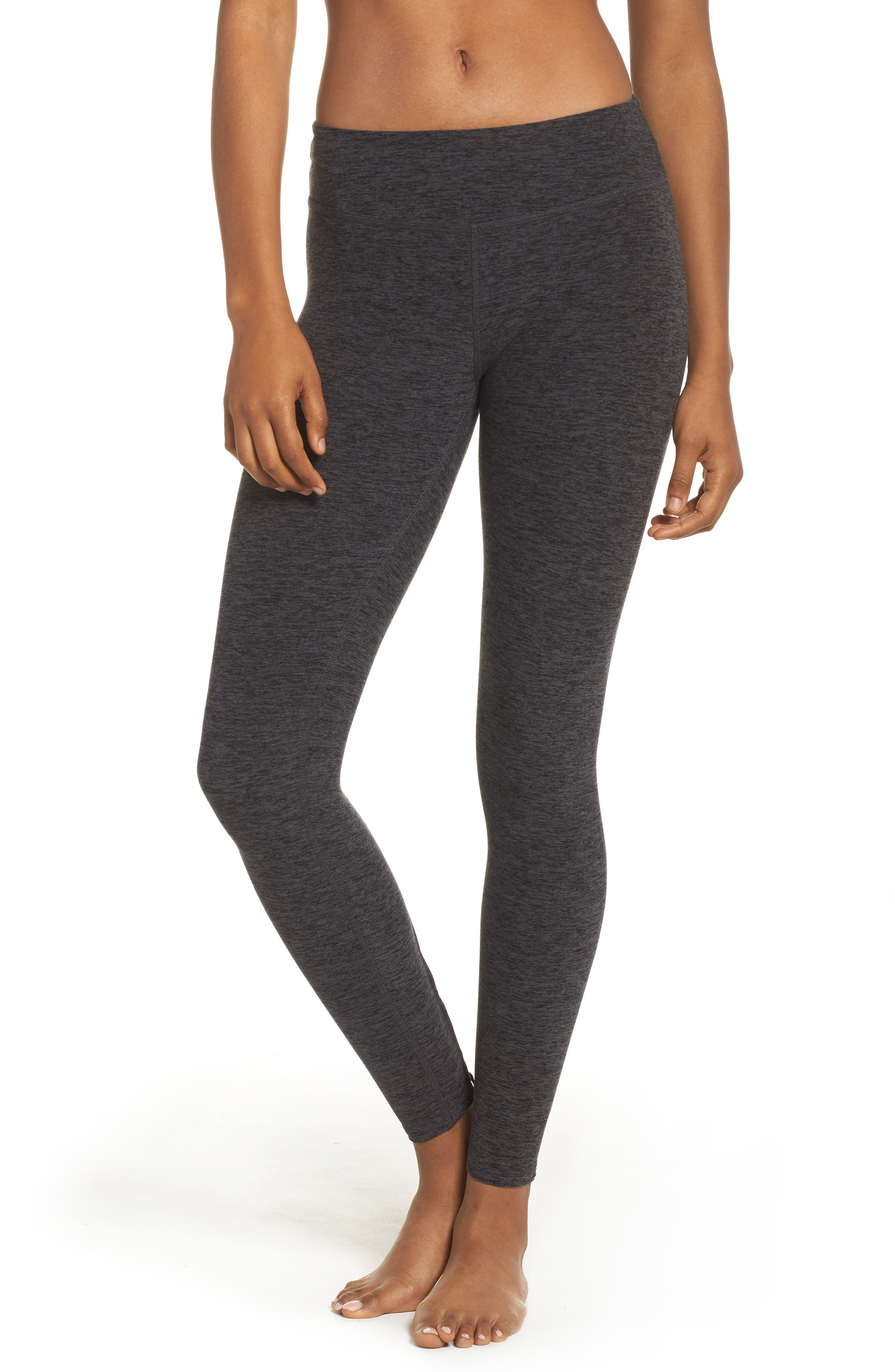 Crisscross Crop Leggings,                         Main,                         color, Black/ Charcoal