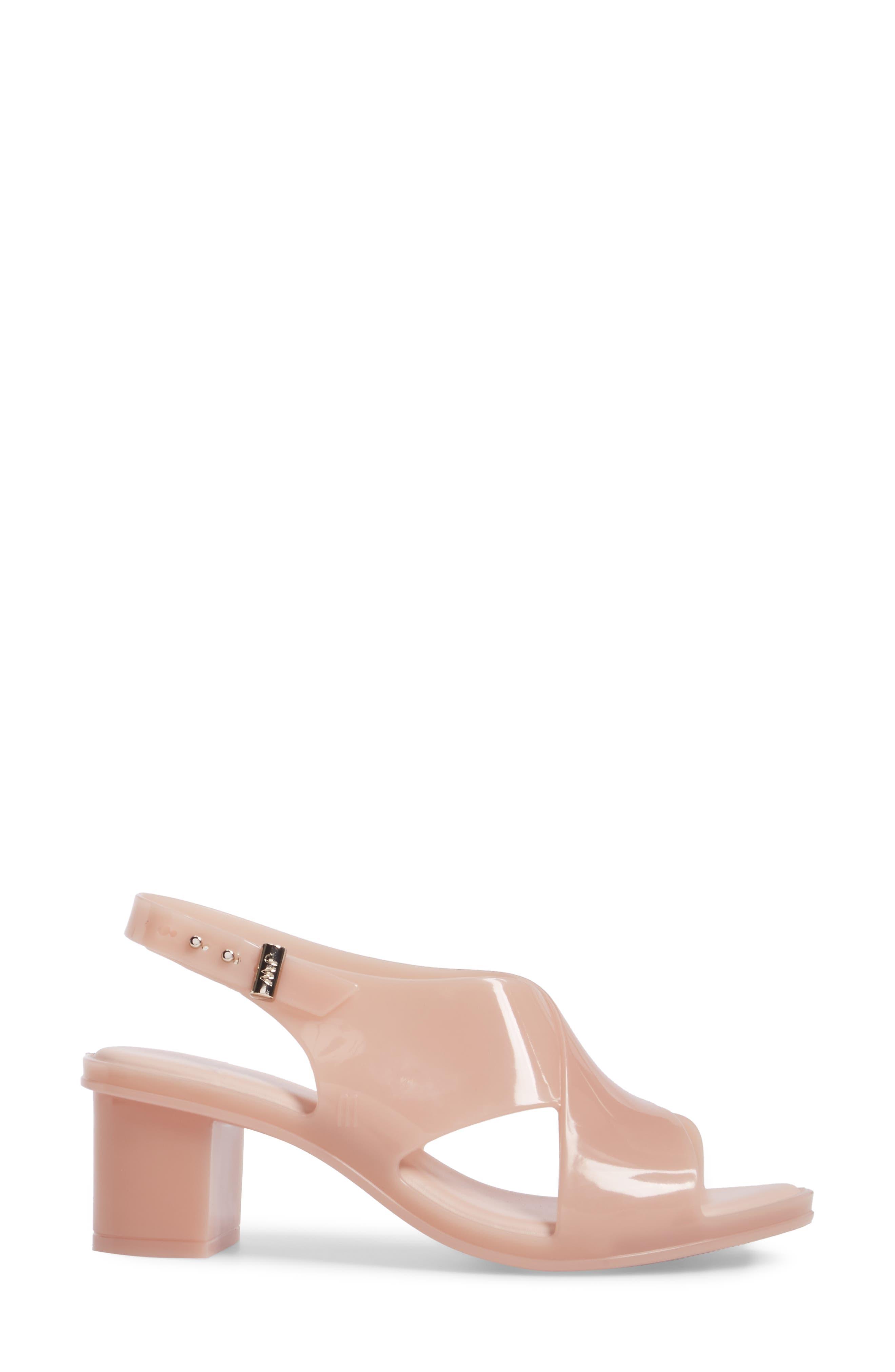 x Jason Wu Jamie Cross Strap Slingback Sandal,                             Alternate thumbnail 3, color,                             Light Pink Matte