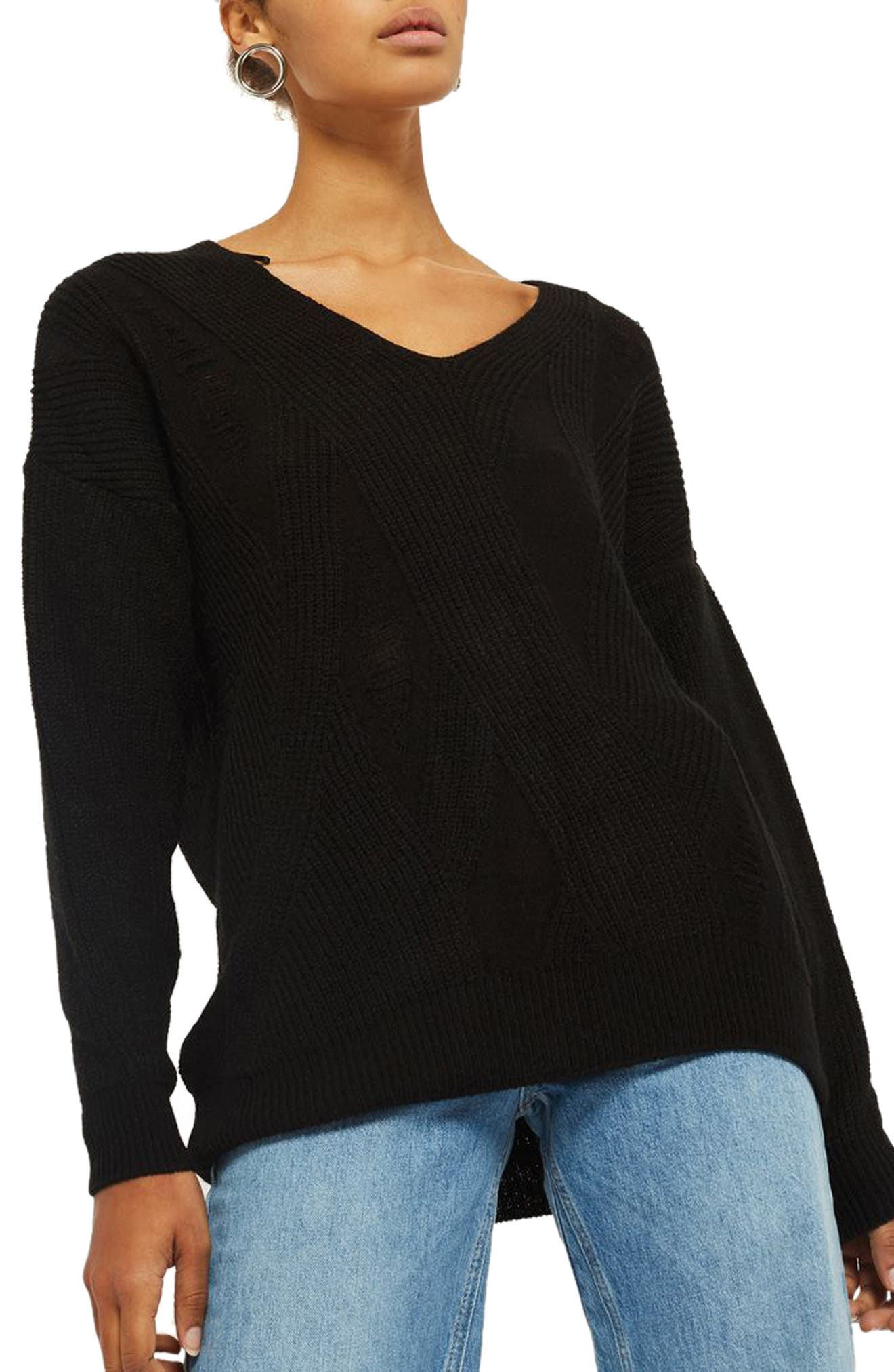 Main Image - Topshop Ladder Stitch Sweater