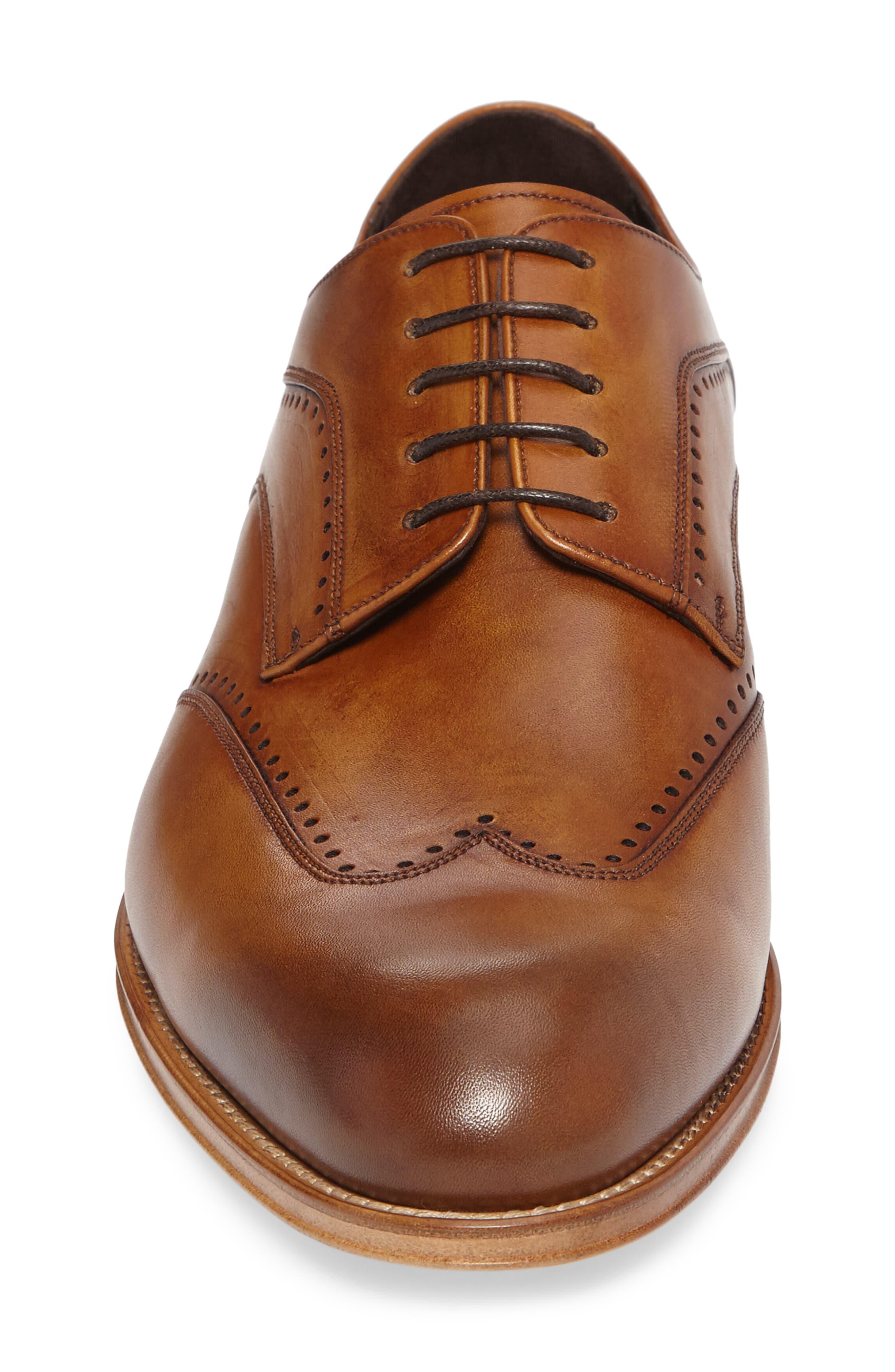Francesco Wingtip Derby,                             Alternate thumbnail 4, color,                             Tan Leather