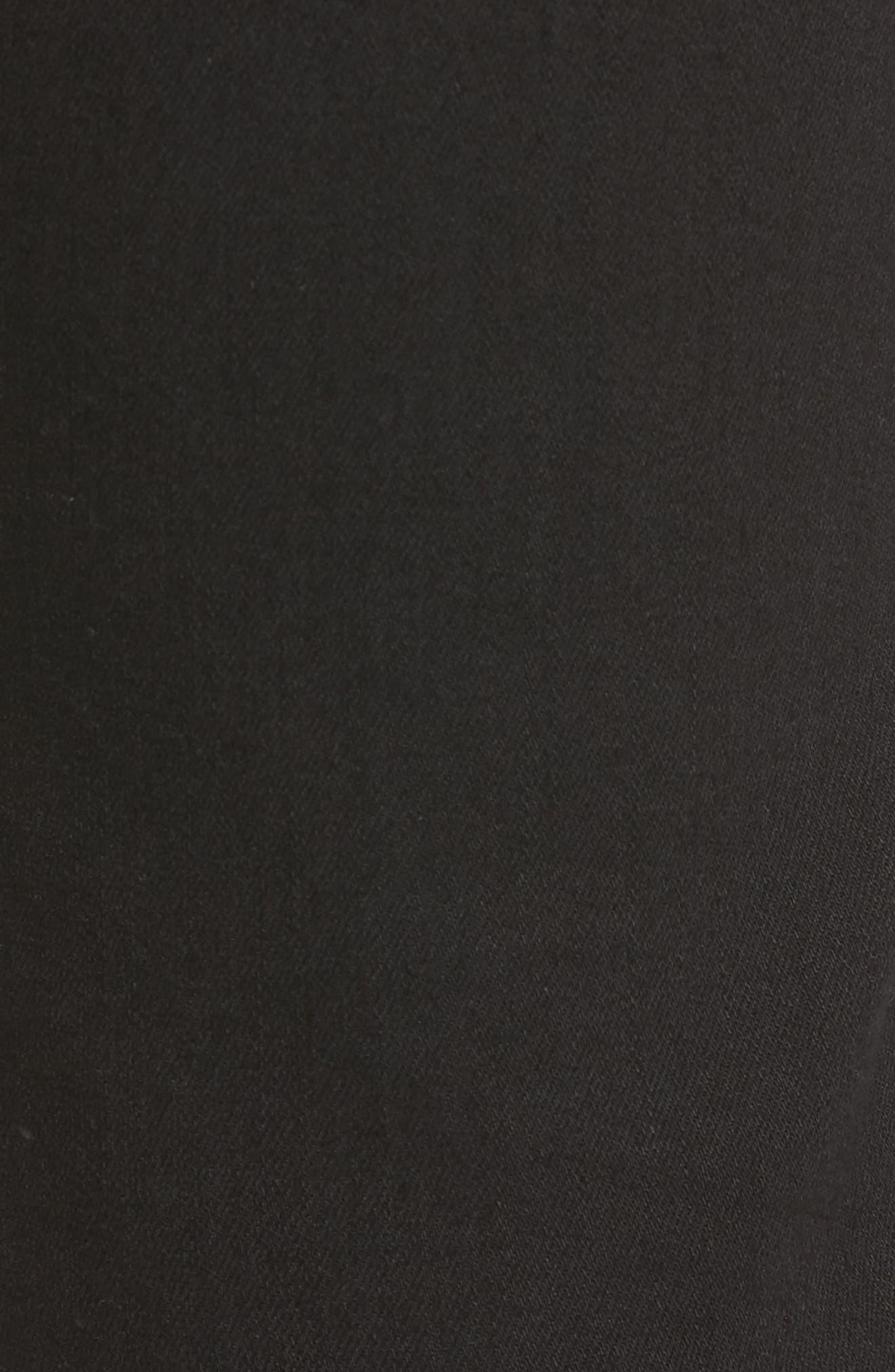 3D Zip Knee Super Slim Pants,                             Alternate thumbnail 5, color,                             Rinsed