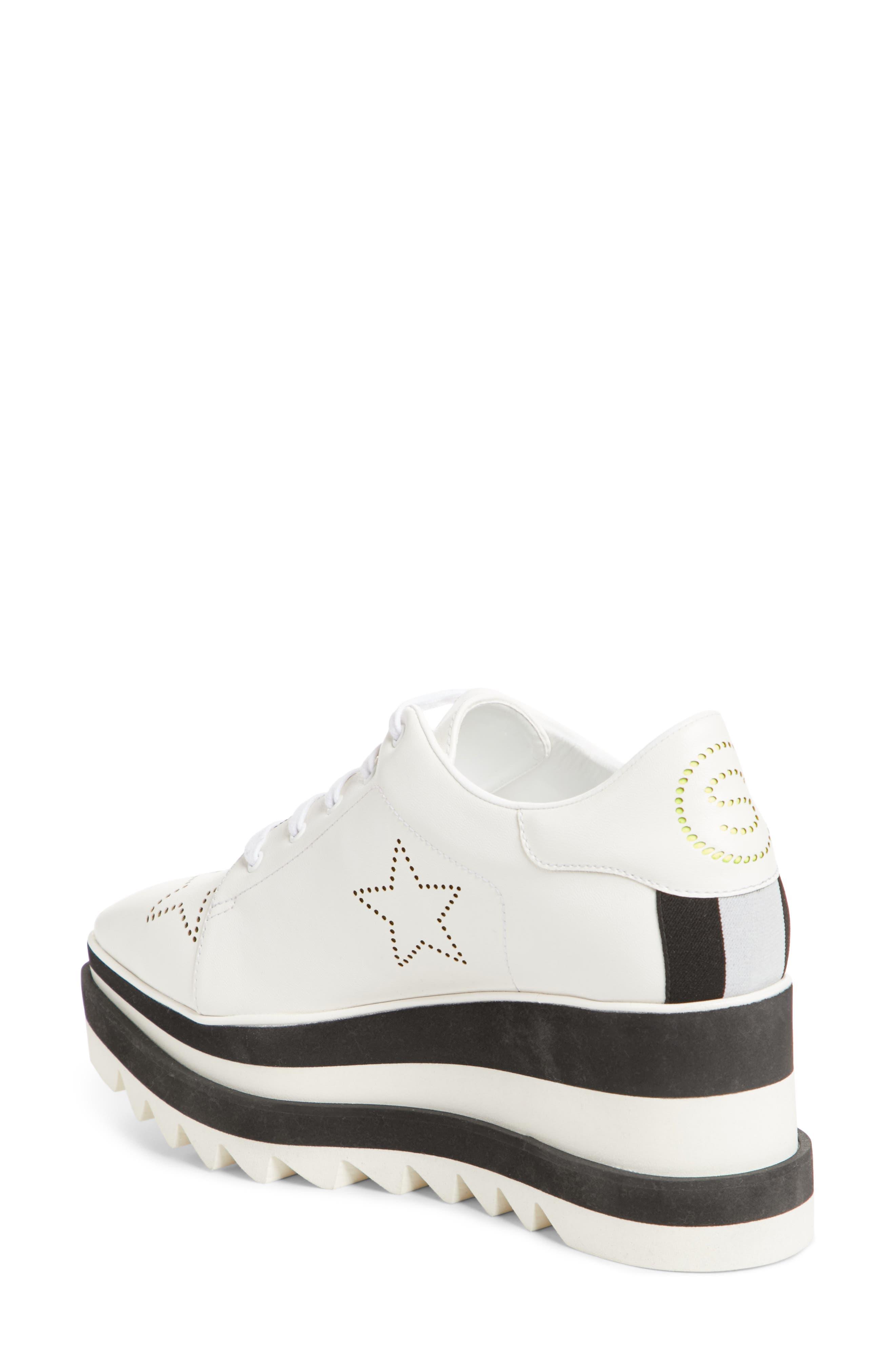 Elyse Platform Sneaker,                             Alternate thumbnail 2, color,                             White