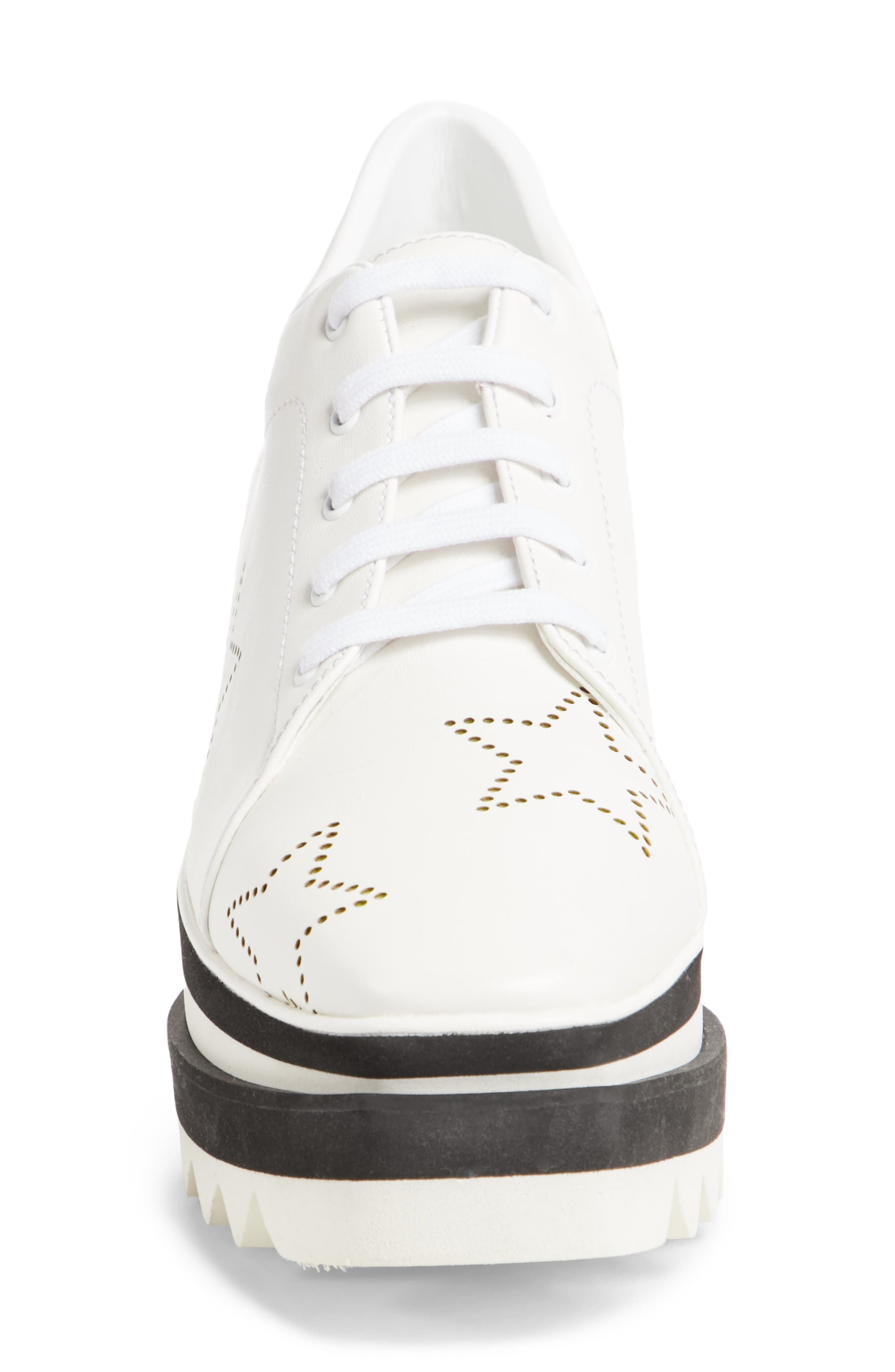 Elyse Platform Sneaker,                             Alternate thumbnail 4, color,                             White