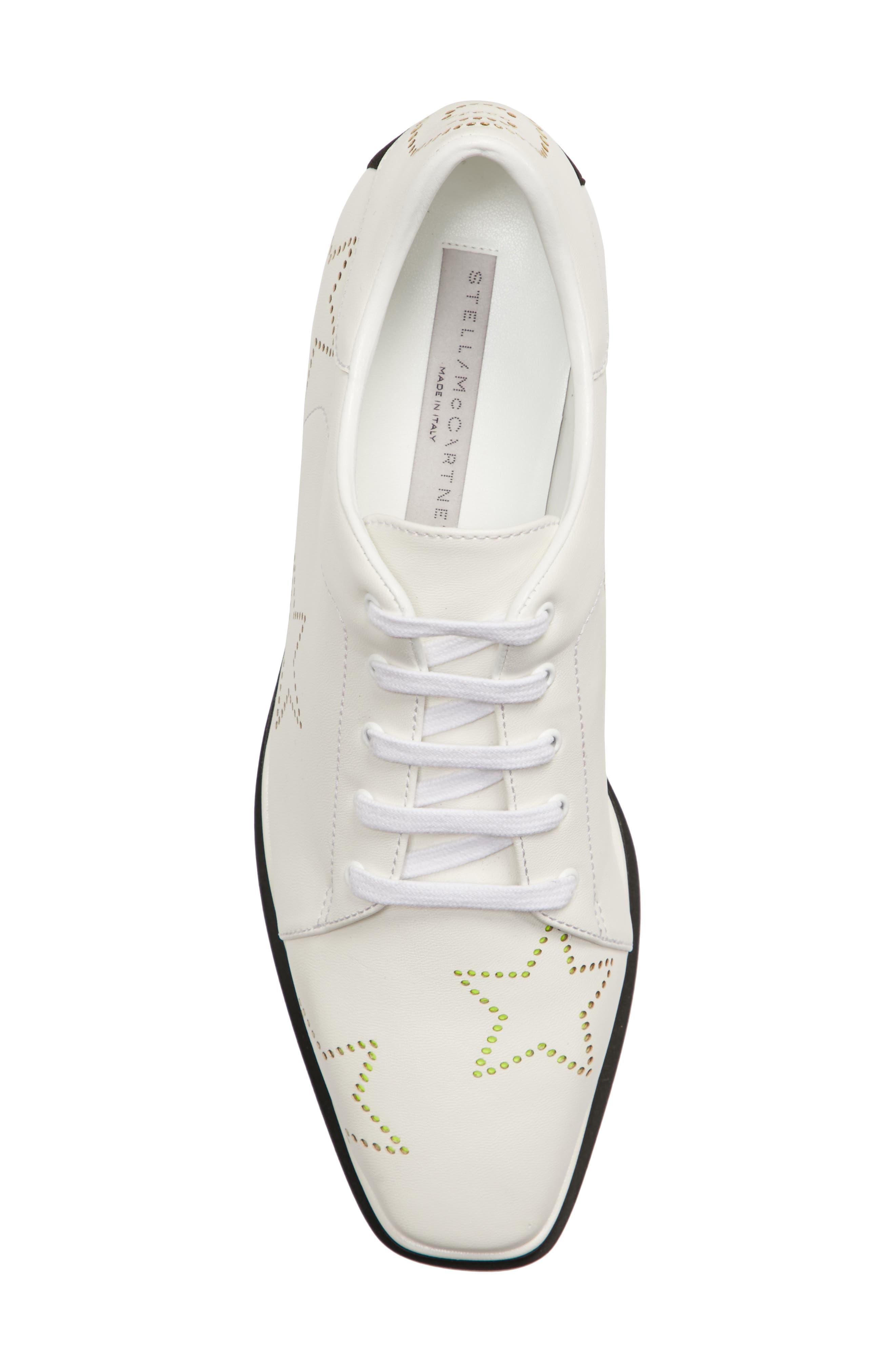 Elyse Platform Sneaker,                             Alternate thumbnail 5, color,                             White