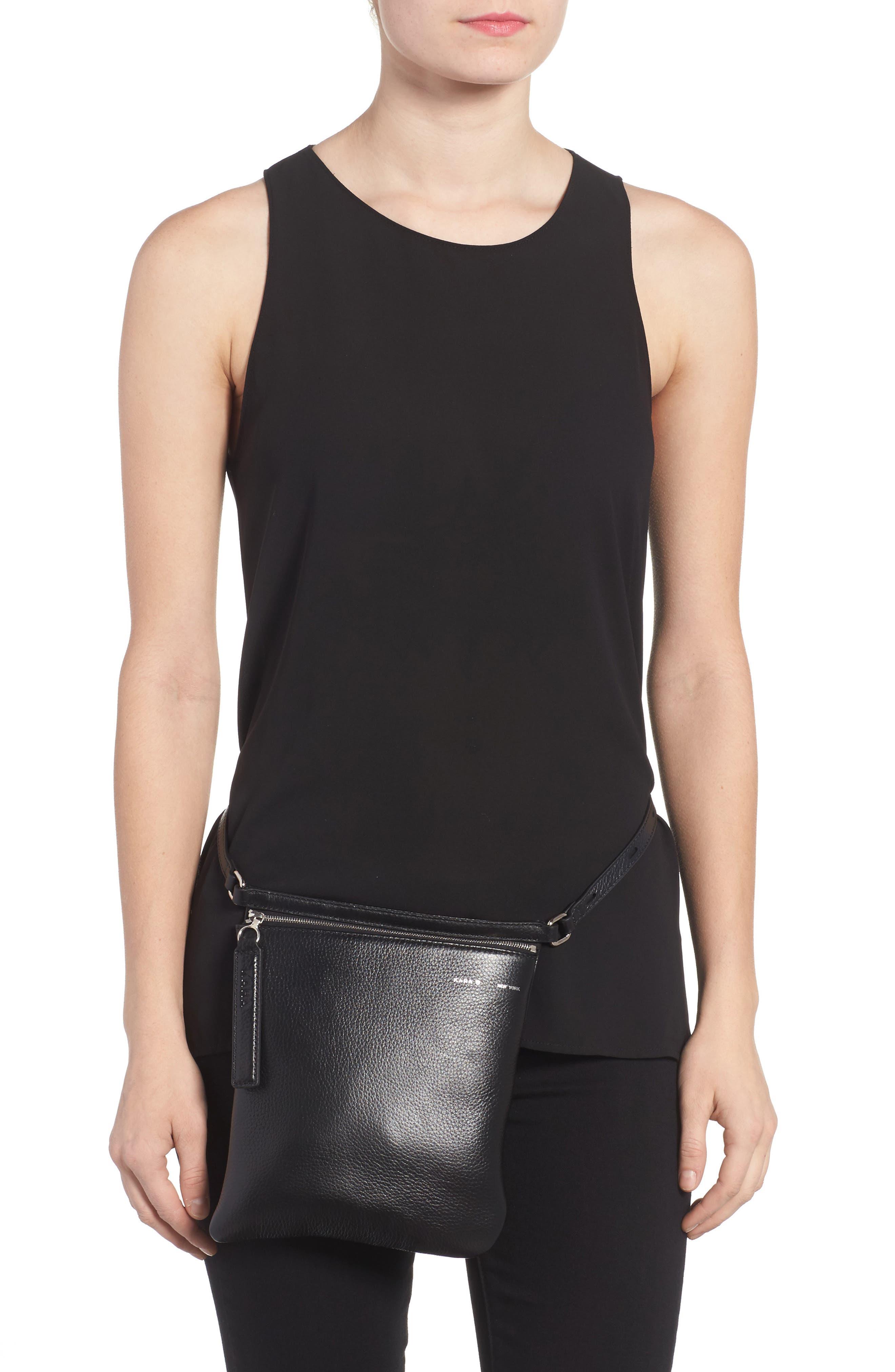 Alternate Image 8  - KARA Pebbled Leather Belt Bag