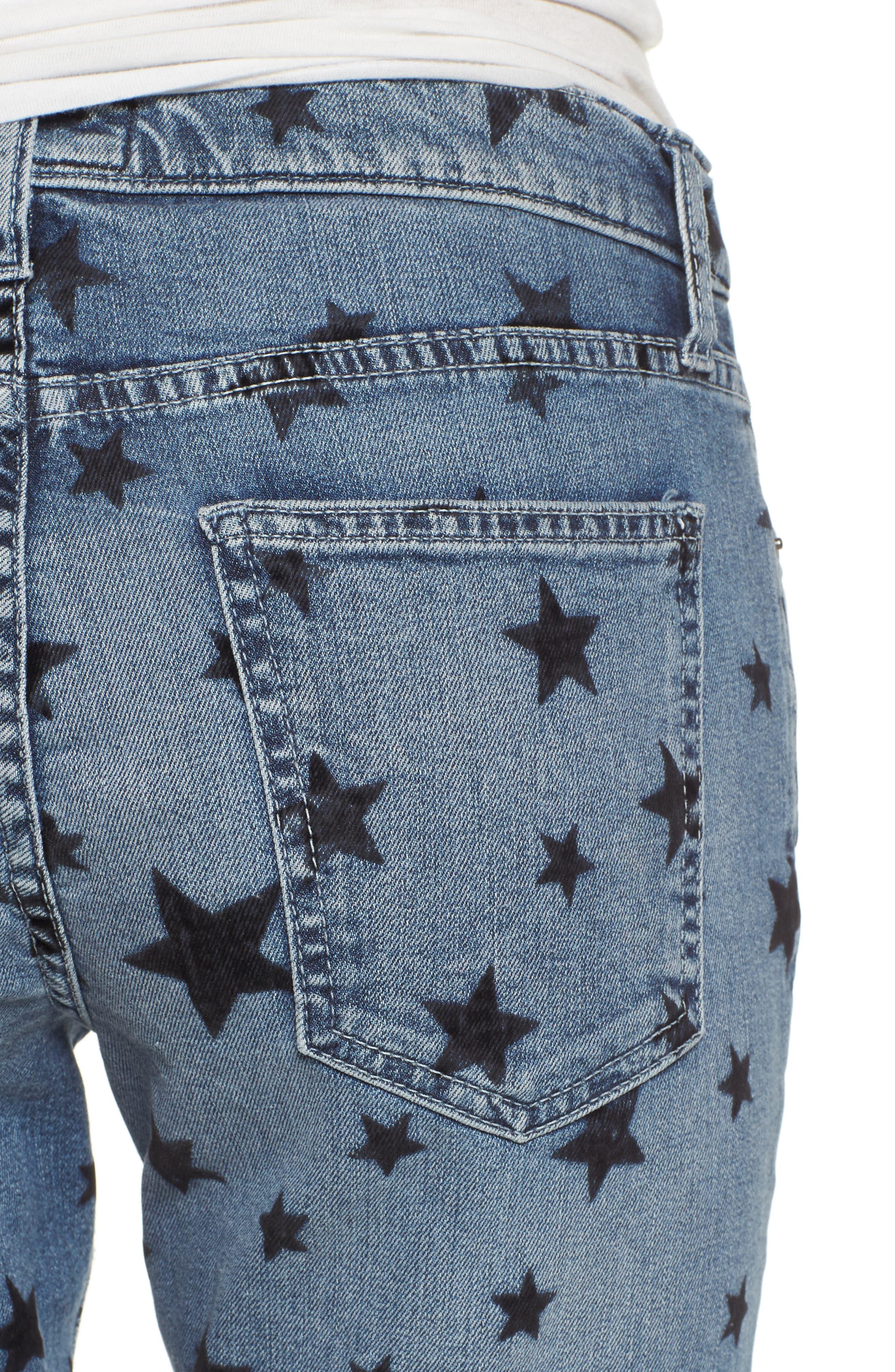 The Stiletto Skinny Jeans,                             Alternate thumbnail 4, color,                             Flocked Star