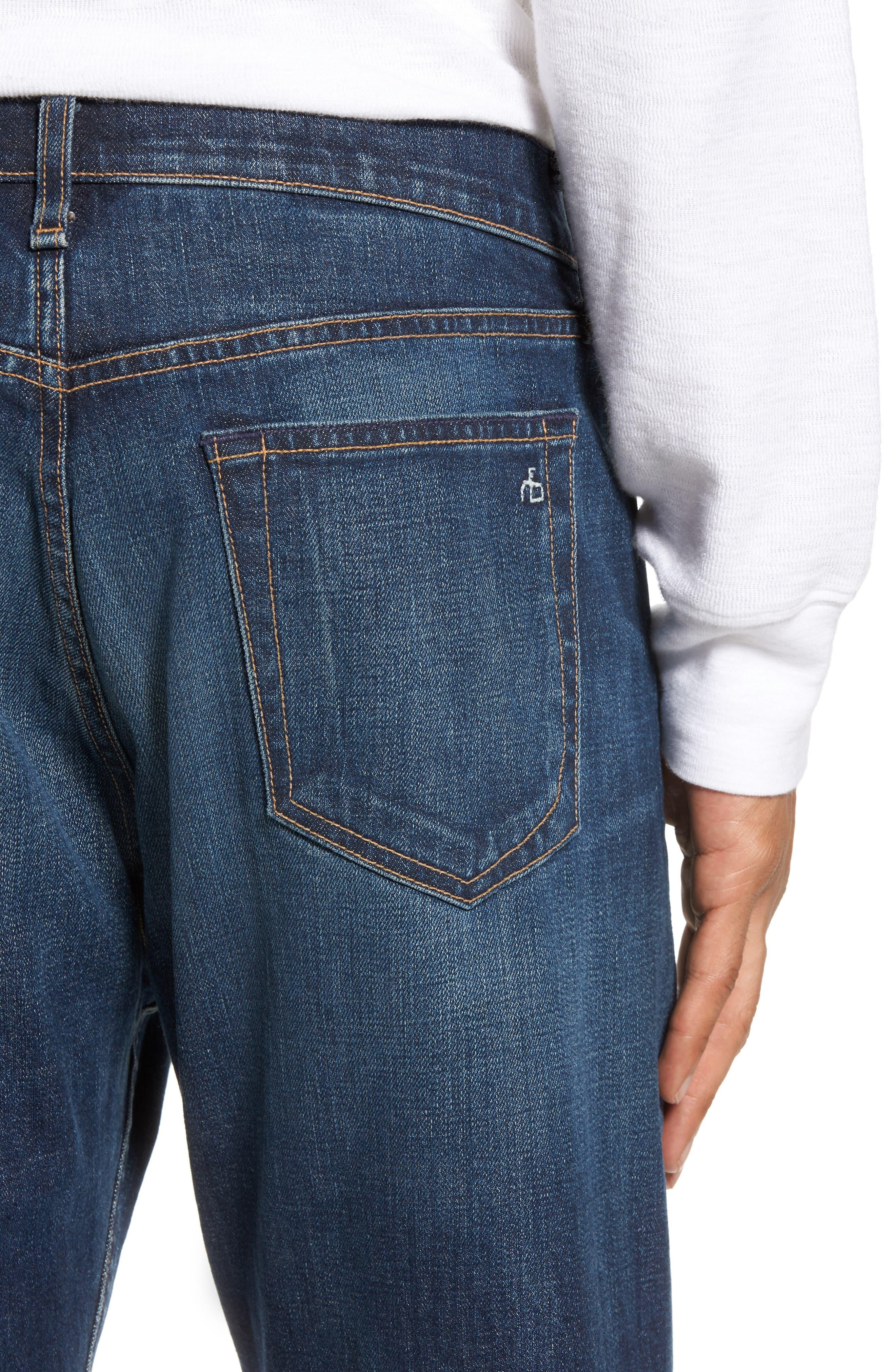 Fit 3 Slim Straight Leg Jeans,                             Alternate thumbnail 4, color,                             Linden
