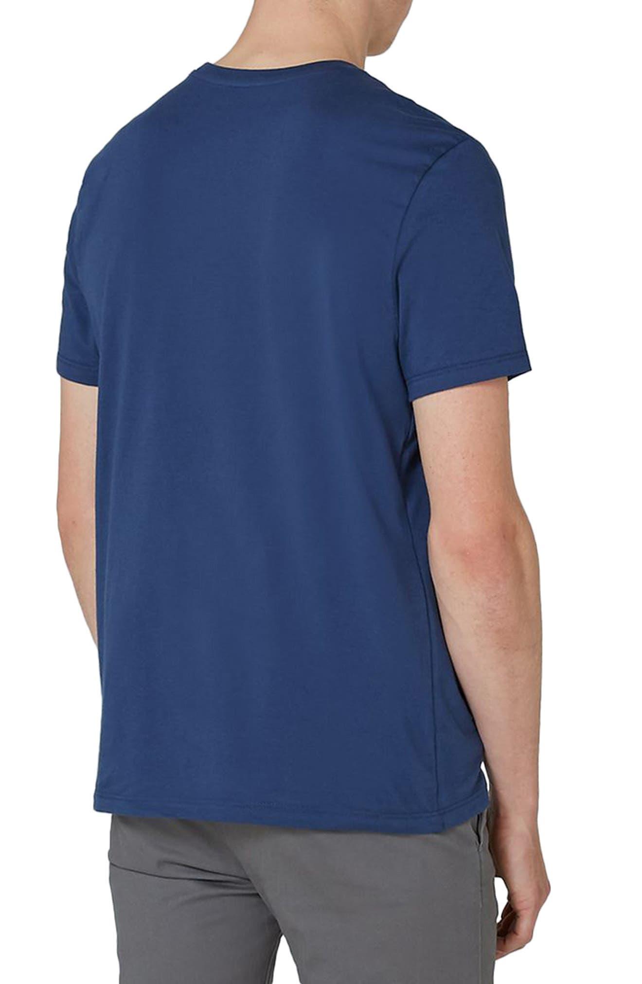 Slim Fit Crewneck T-Shirt,                             Alternate thumbnail 2, color,                             Light Blue