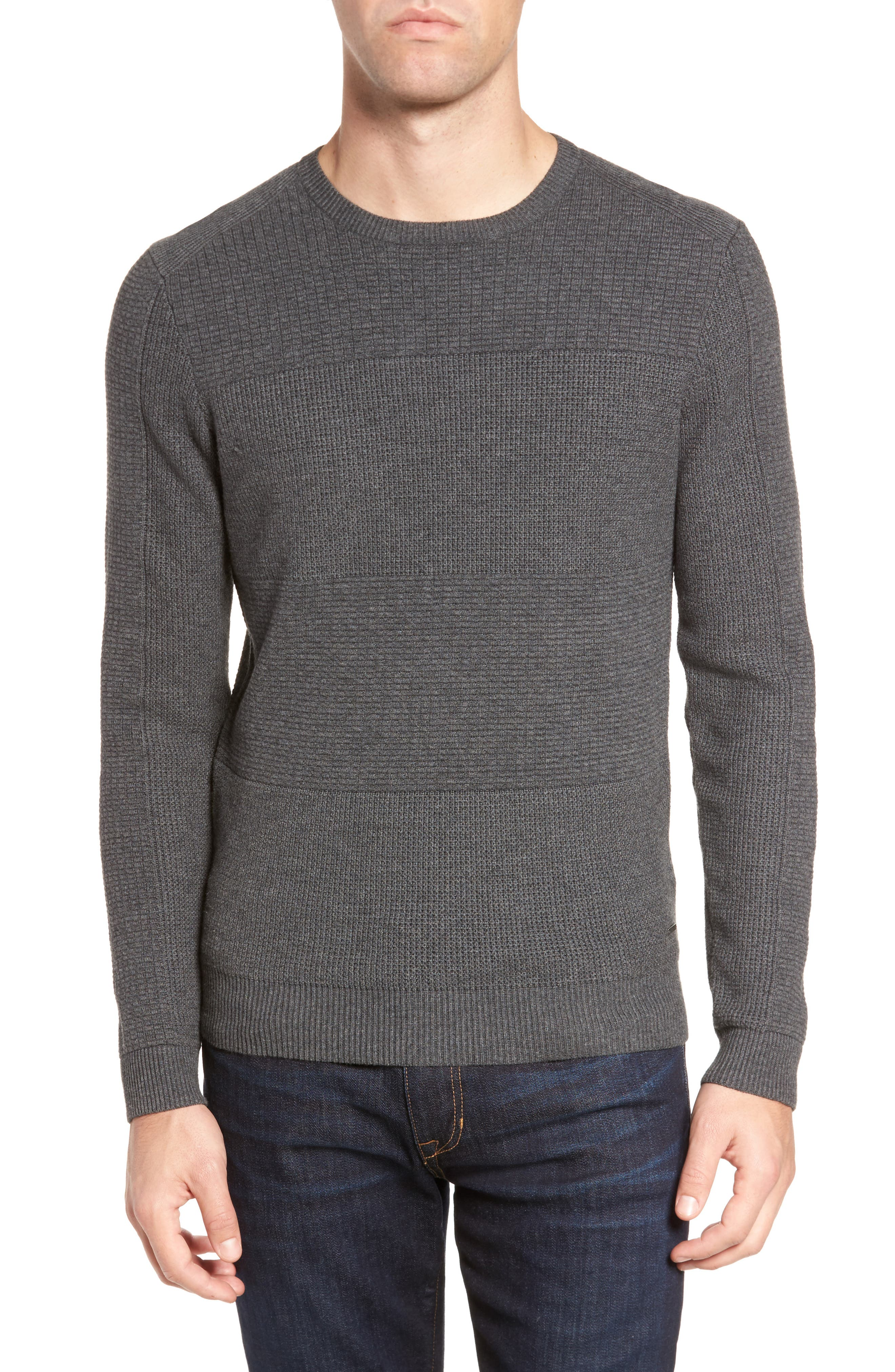 Naranjo Wool & Cotton Sweater,                         Main,                         color, Grey