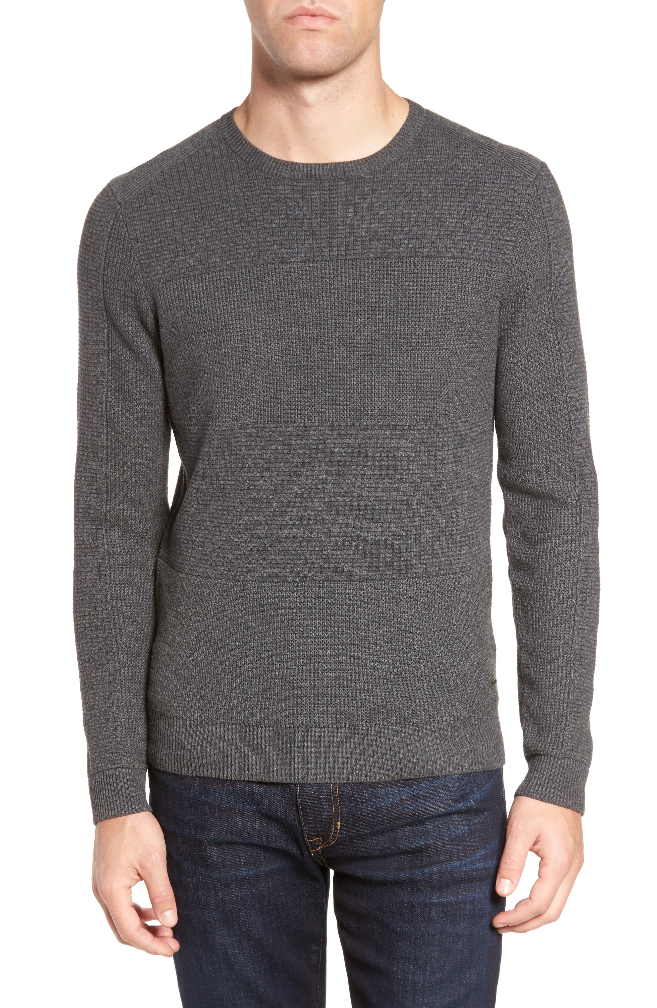 Naranjo Wool & Cotton Sweater,                         Main,                         color, Grey