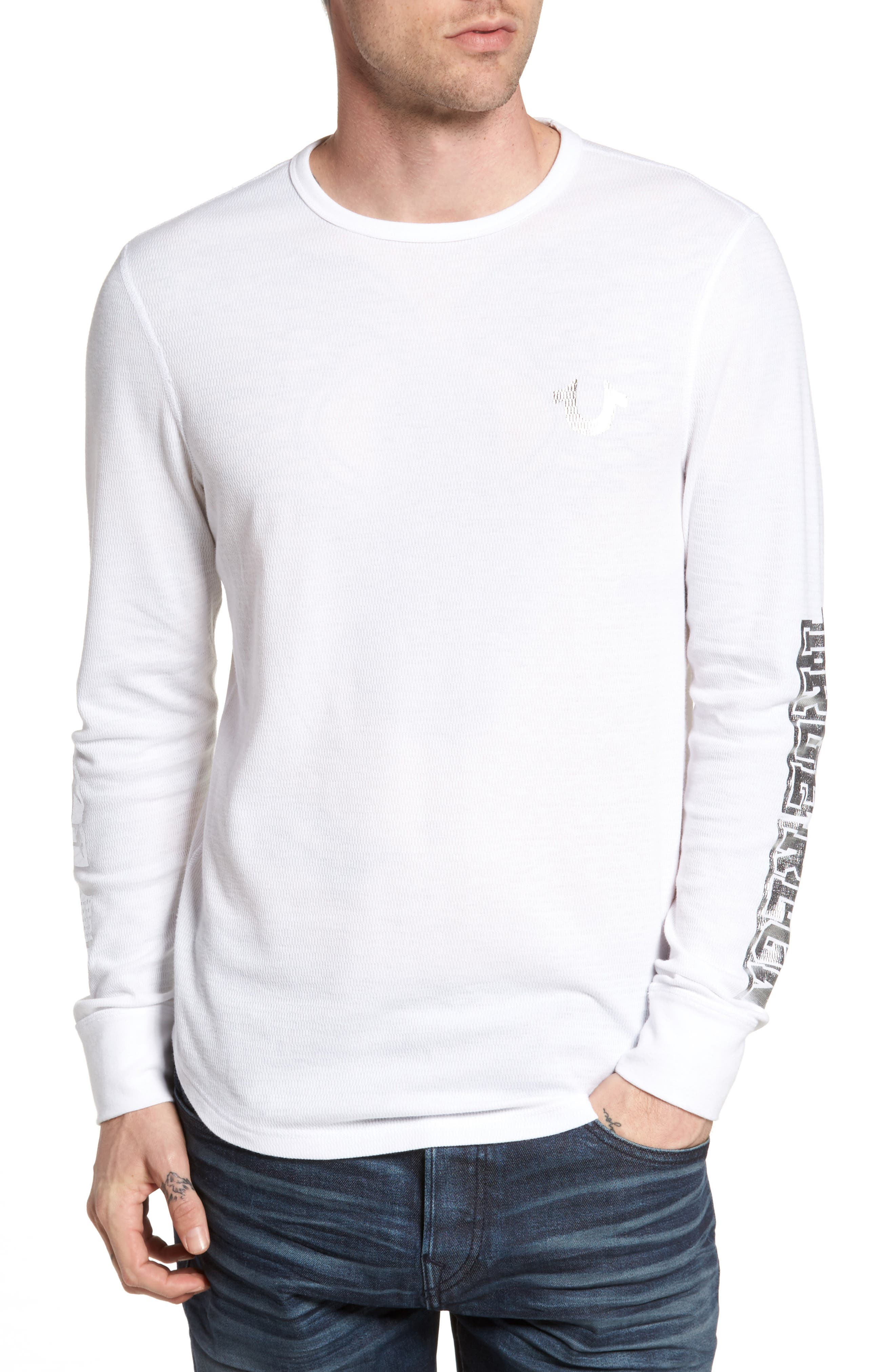 True Religion Brand Jeans Thermal T-Shirt