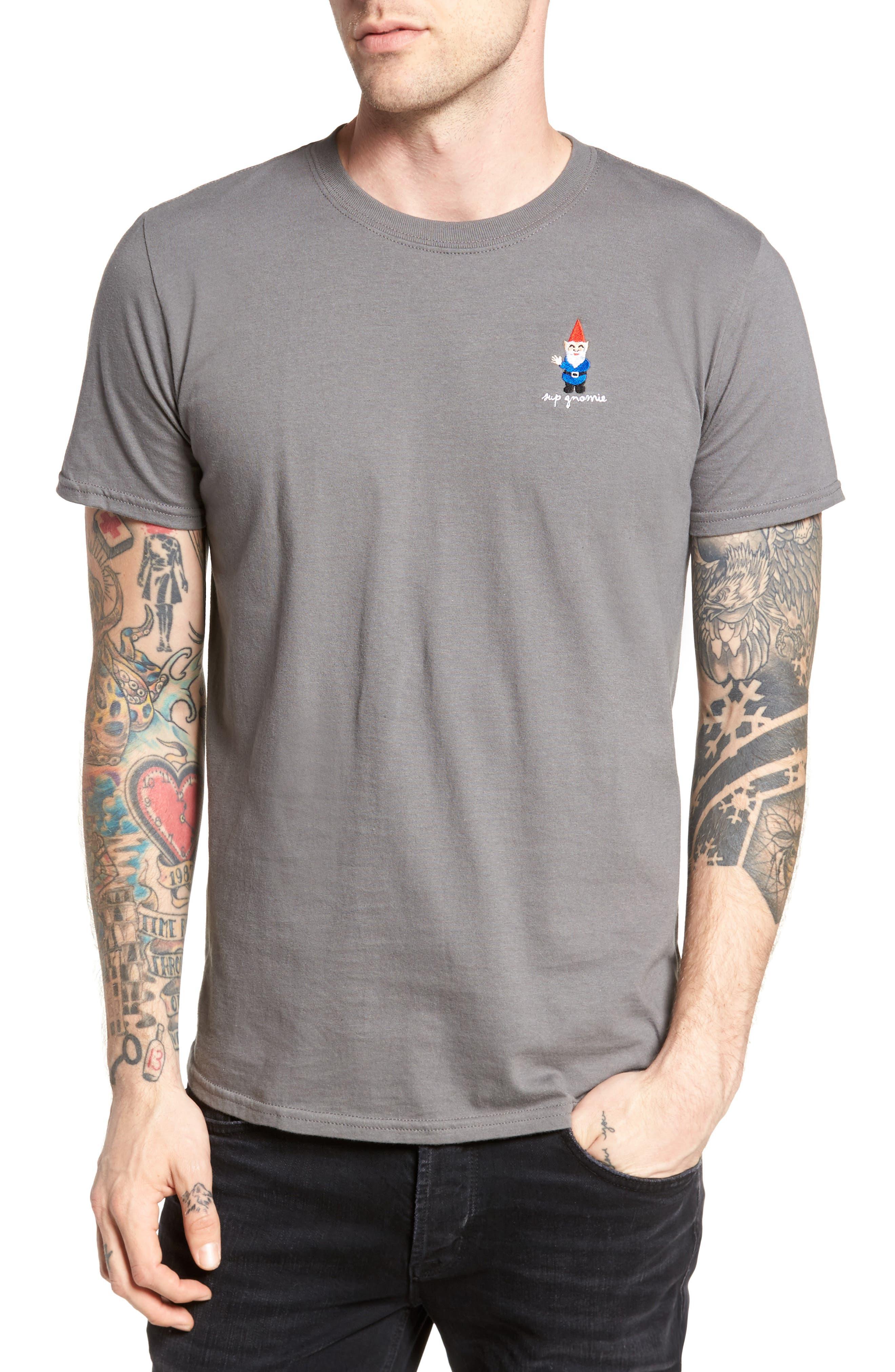 Gnome T-Shirt,                         Main,                         color, Grey Gnome