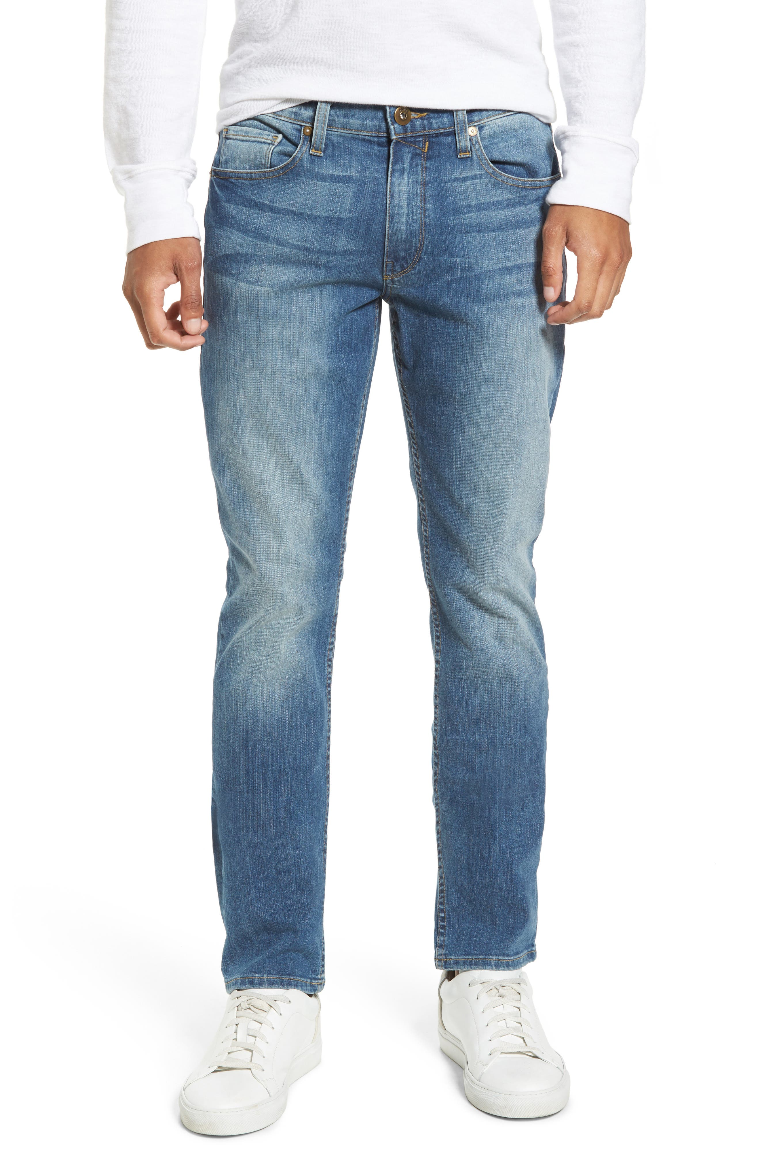 Alternate Image 1 Selected - PAIGE Legacy - Lennox Slim Fit Jeans (Steele)