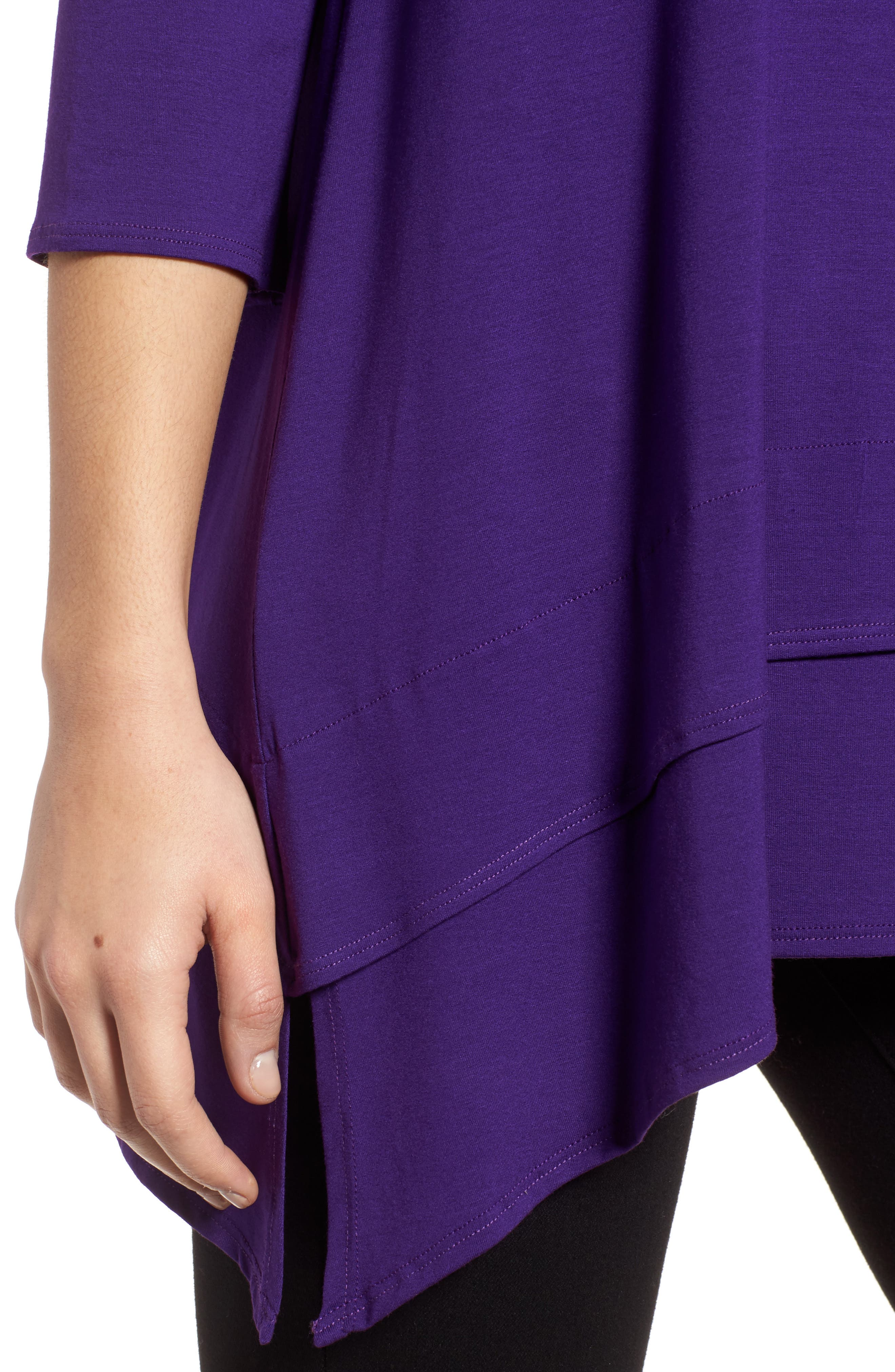 Tiered Handkerchief Hem Tunic,                             Alternate thumbnail 4, color,                             Ultraviolet