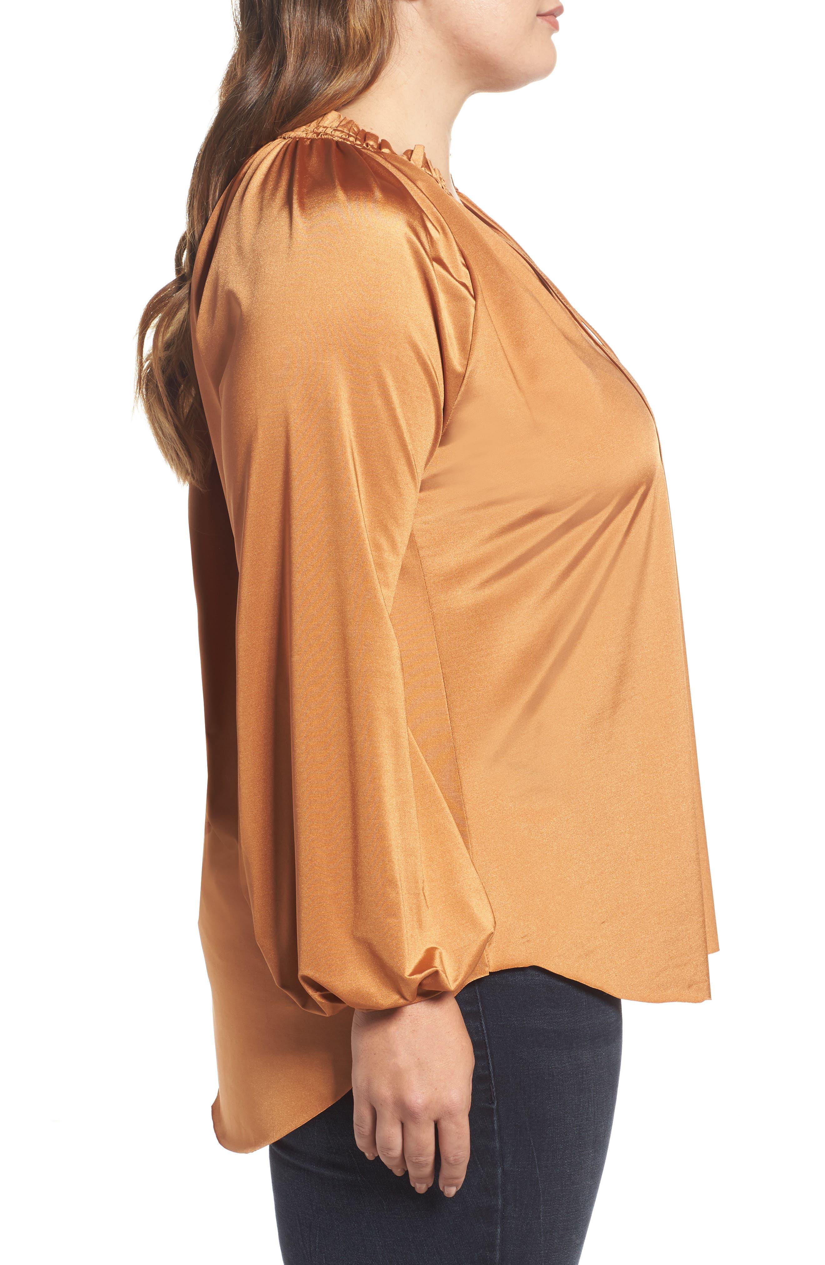 Alternate Image 3  - Melissa McCarthy Tie Neck Top (Plus Size)