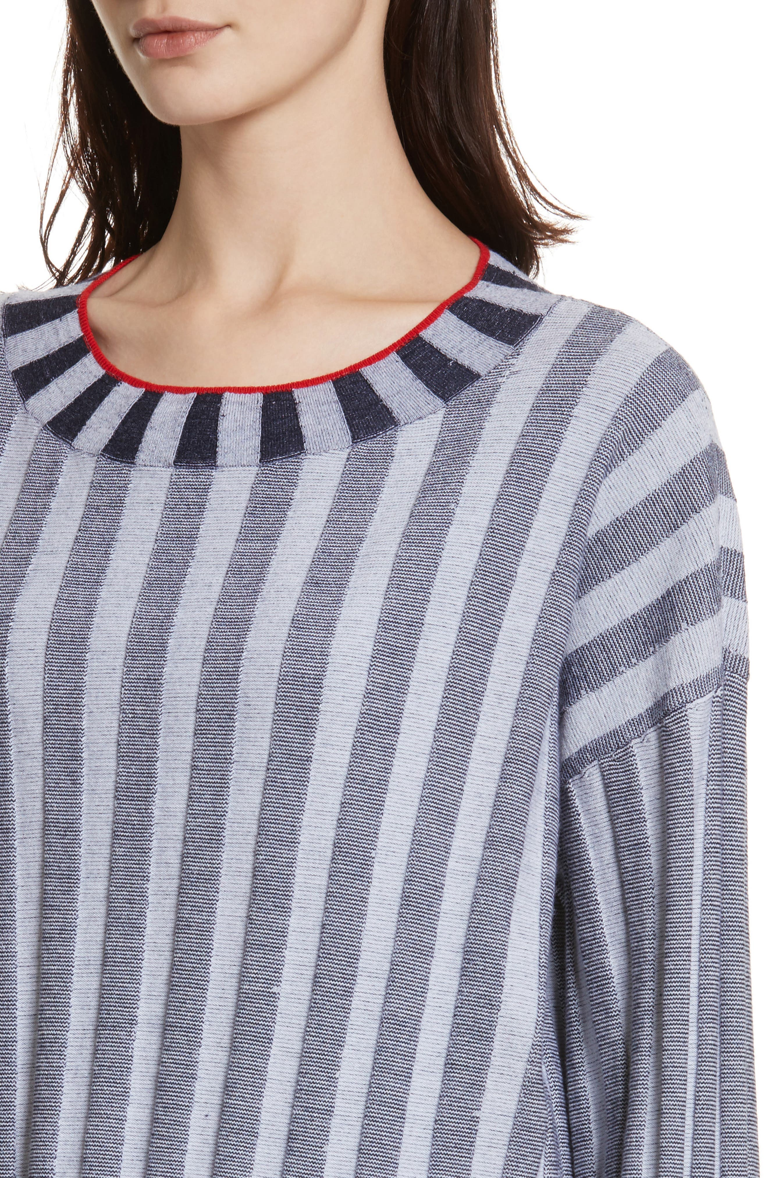 Alternate Image 4  - Elizabeth and James Campbell Stripe Merino Wool Blend Sweater