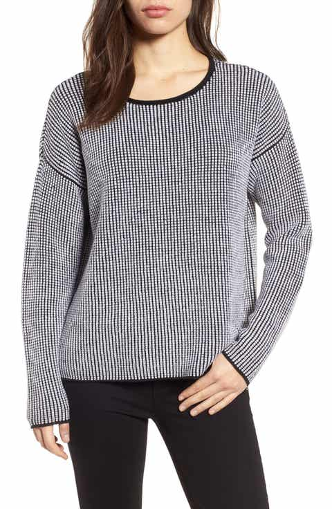 Eileen Fisher Textured Merino Wool Sweater