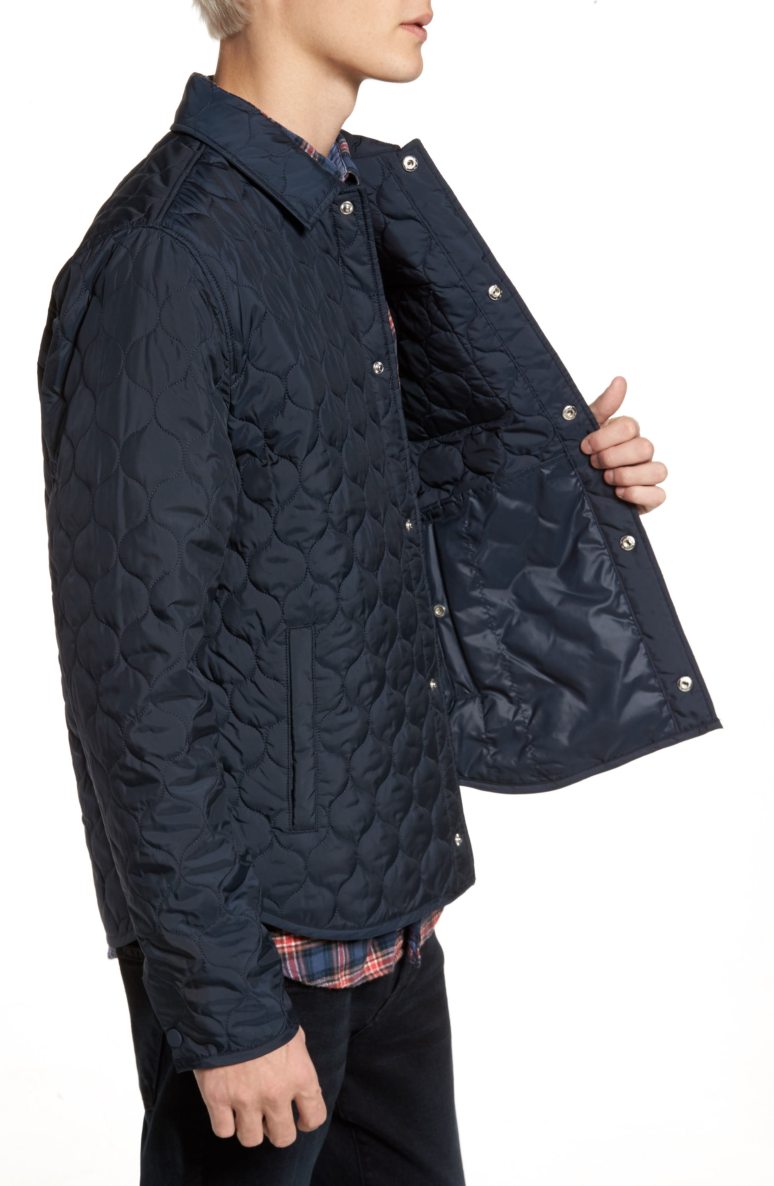 Lightweight Onion Quilted Jacket,                             Alternate thumbnail 3, color,                             Dark Sapphire