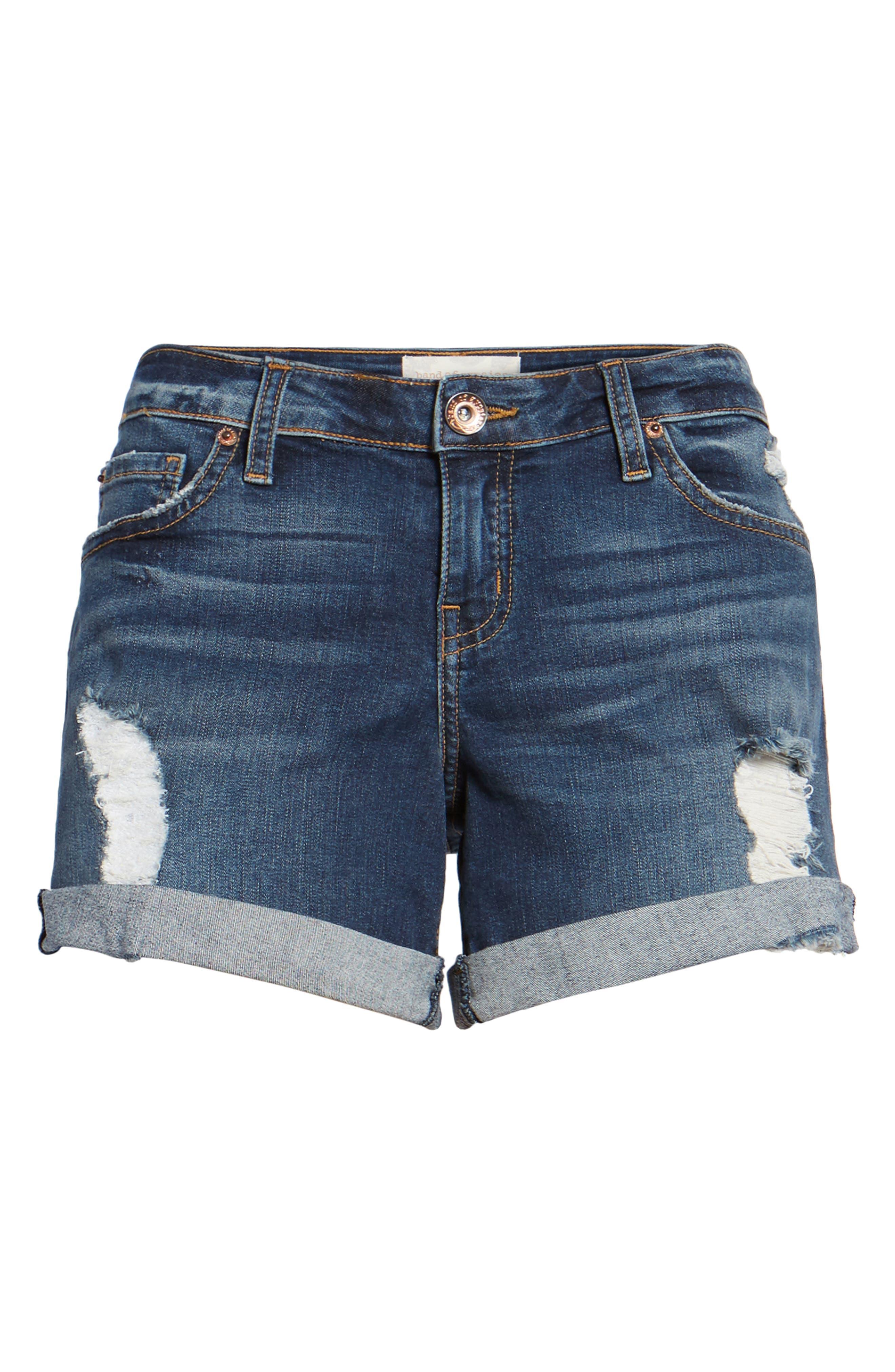 Allie Boyfriend Denim Shorts,                             Alternate thumbnail 6, color,                             West Wanderlust