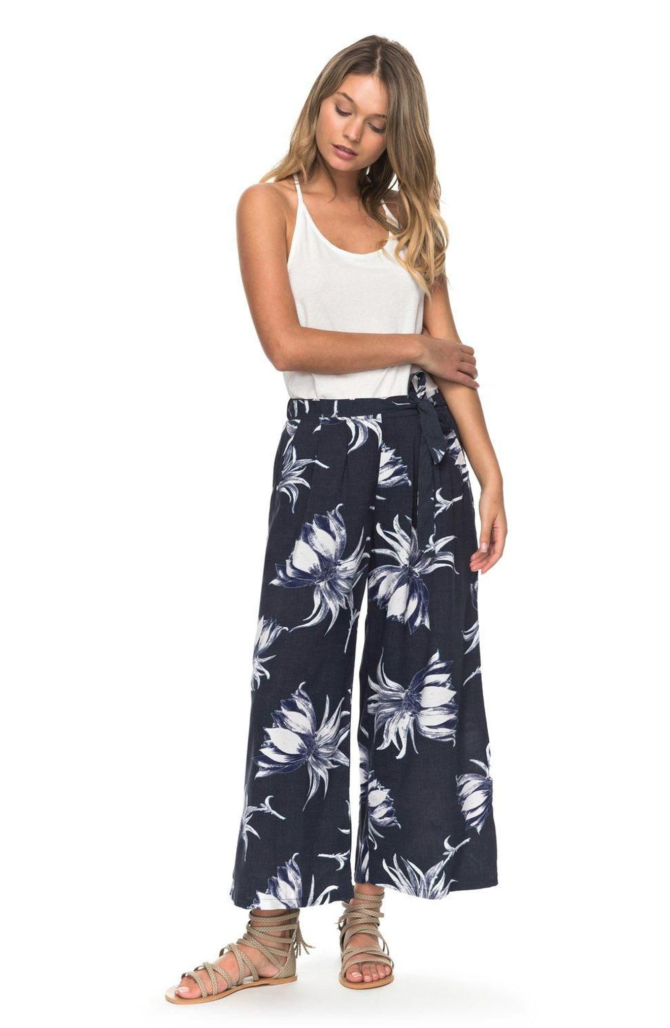 Alternate Image 4  - Roxy Ready Beachy Vibes Print Culottes
