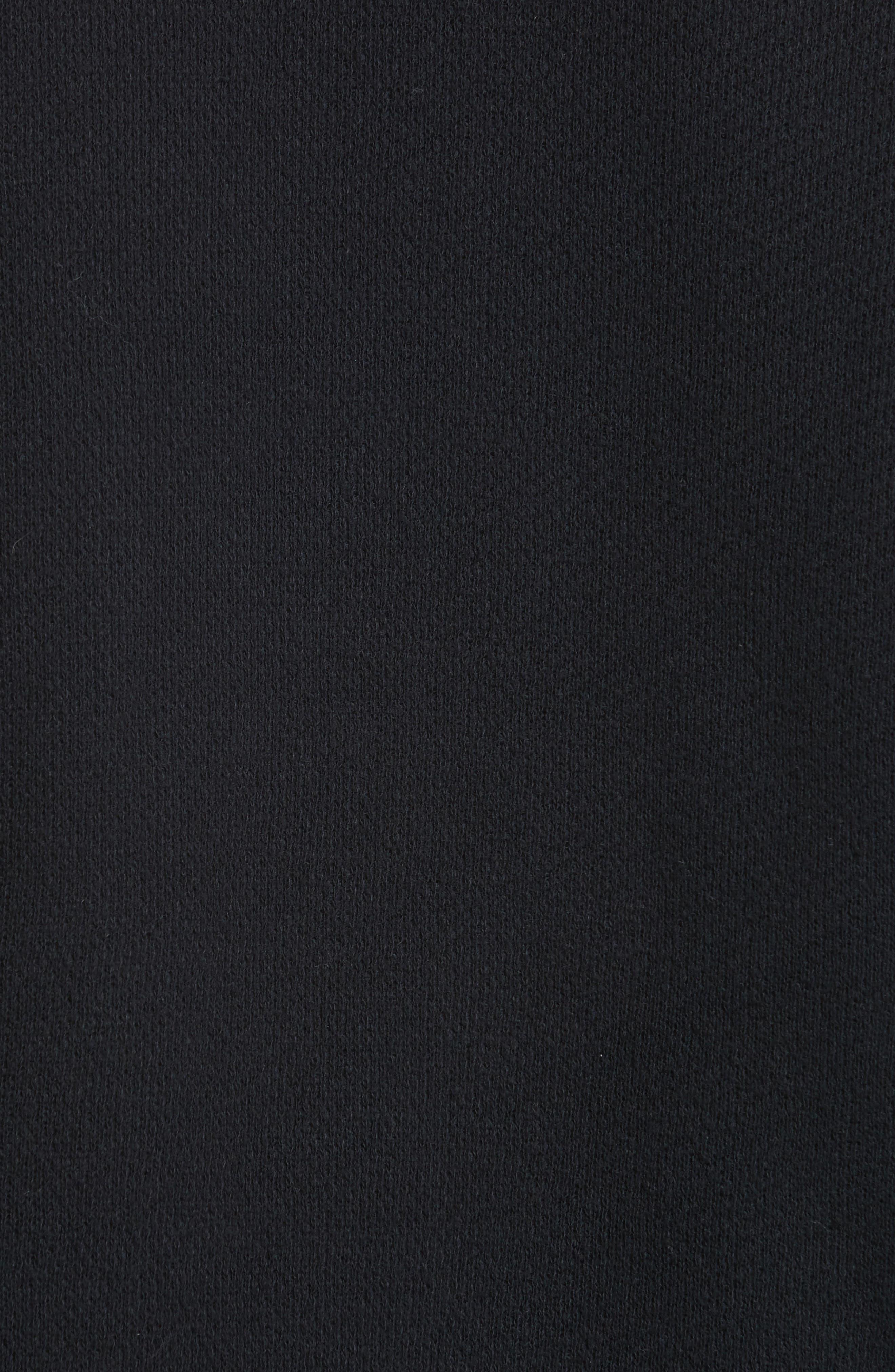 Tu es mon TRESOR Tulle Flower Sweatshirt,                             Alternate thumbnail 5, color,                             Black/ Mint Bkmi