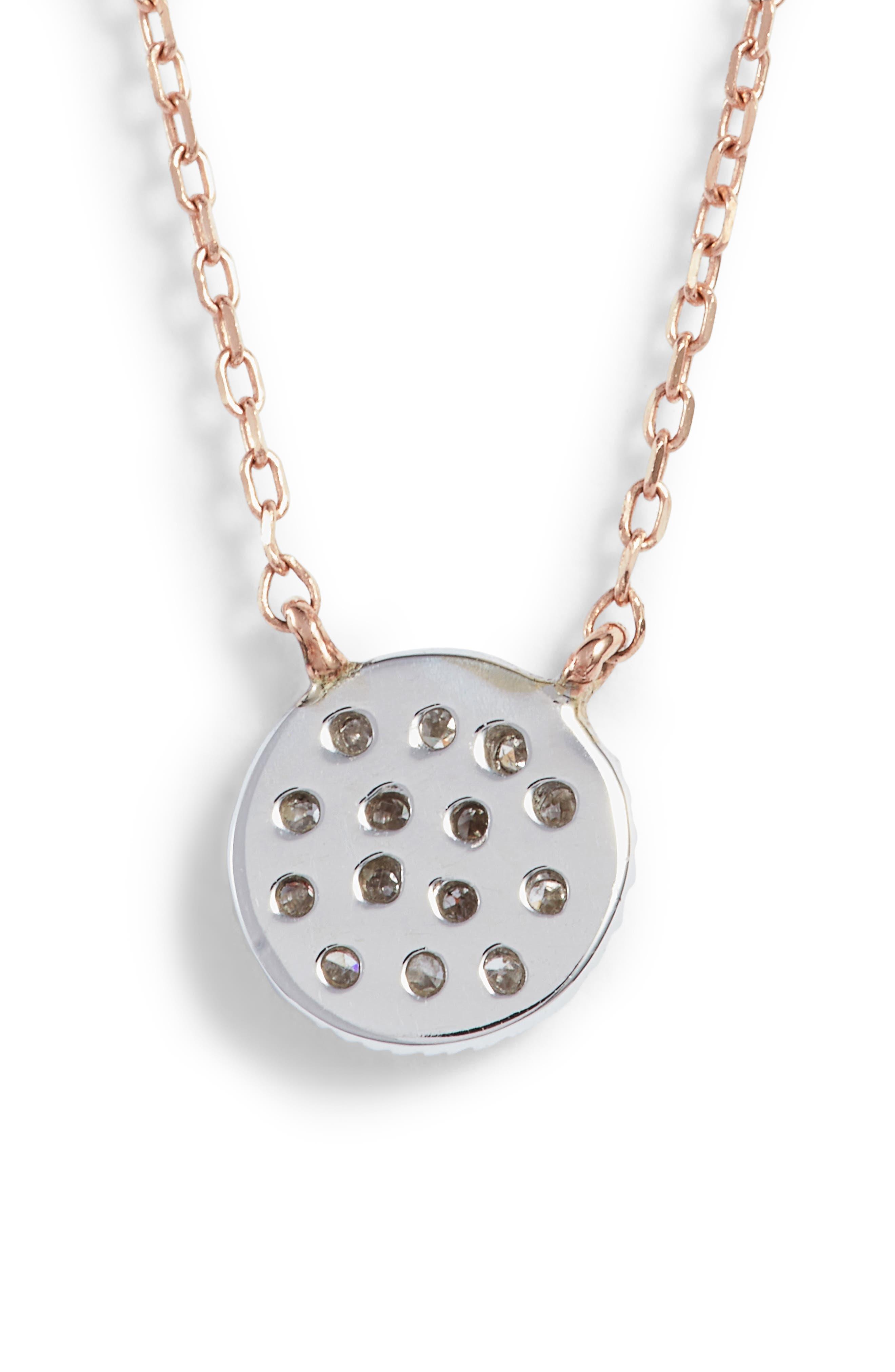 Alternate Image 4  - Dana Rebecca Designs 'Lauren Joy' Diamond Disc Pendant Necklace