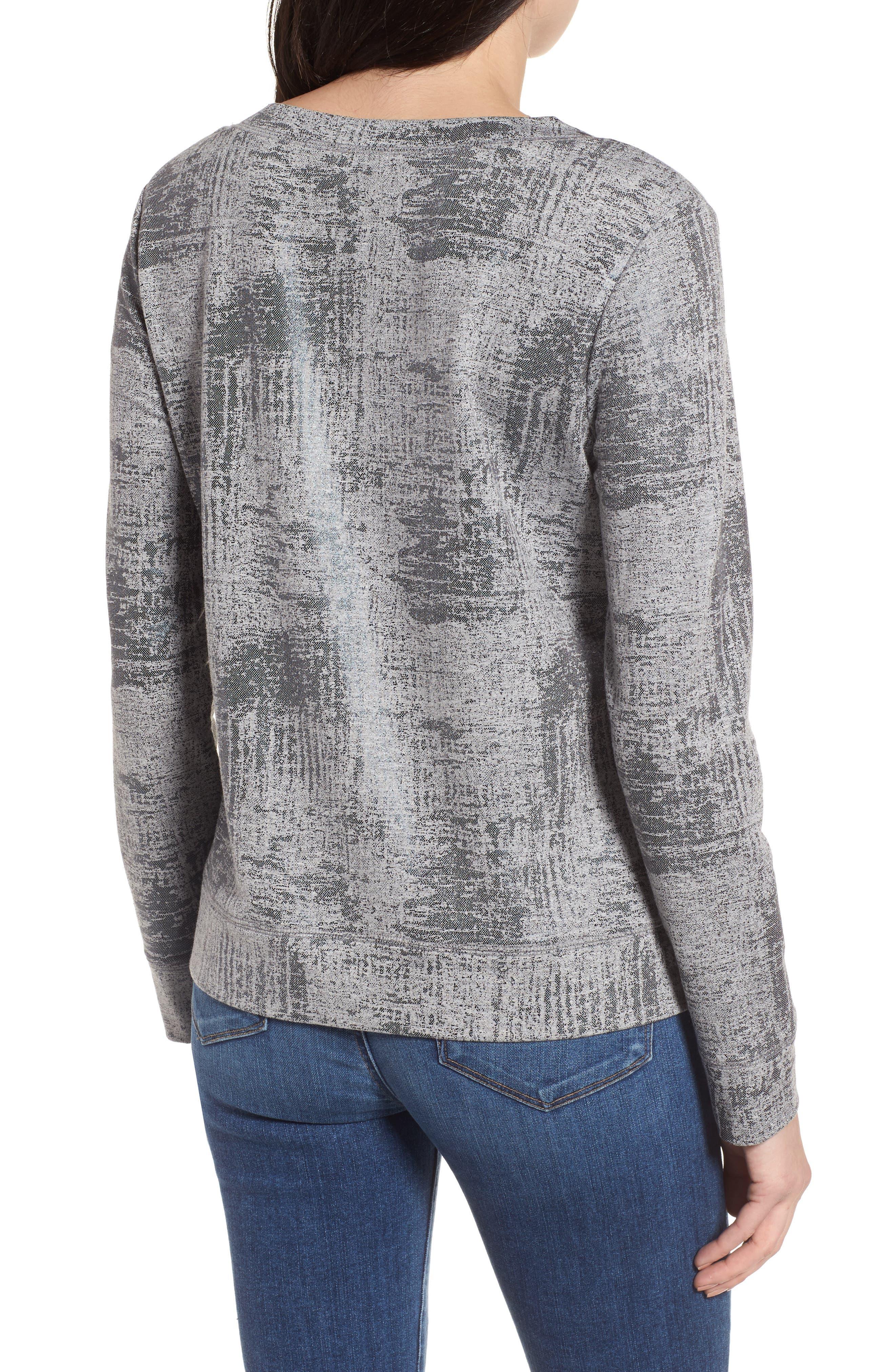 Alternate Image 2  - Halogen® Foiled Sweatshirt