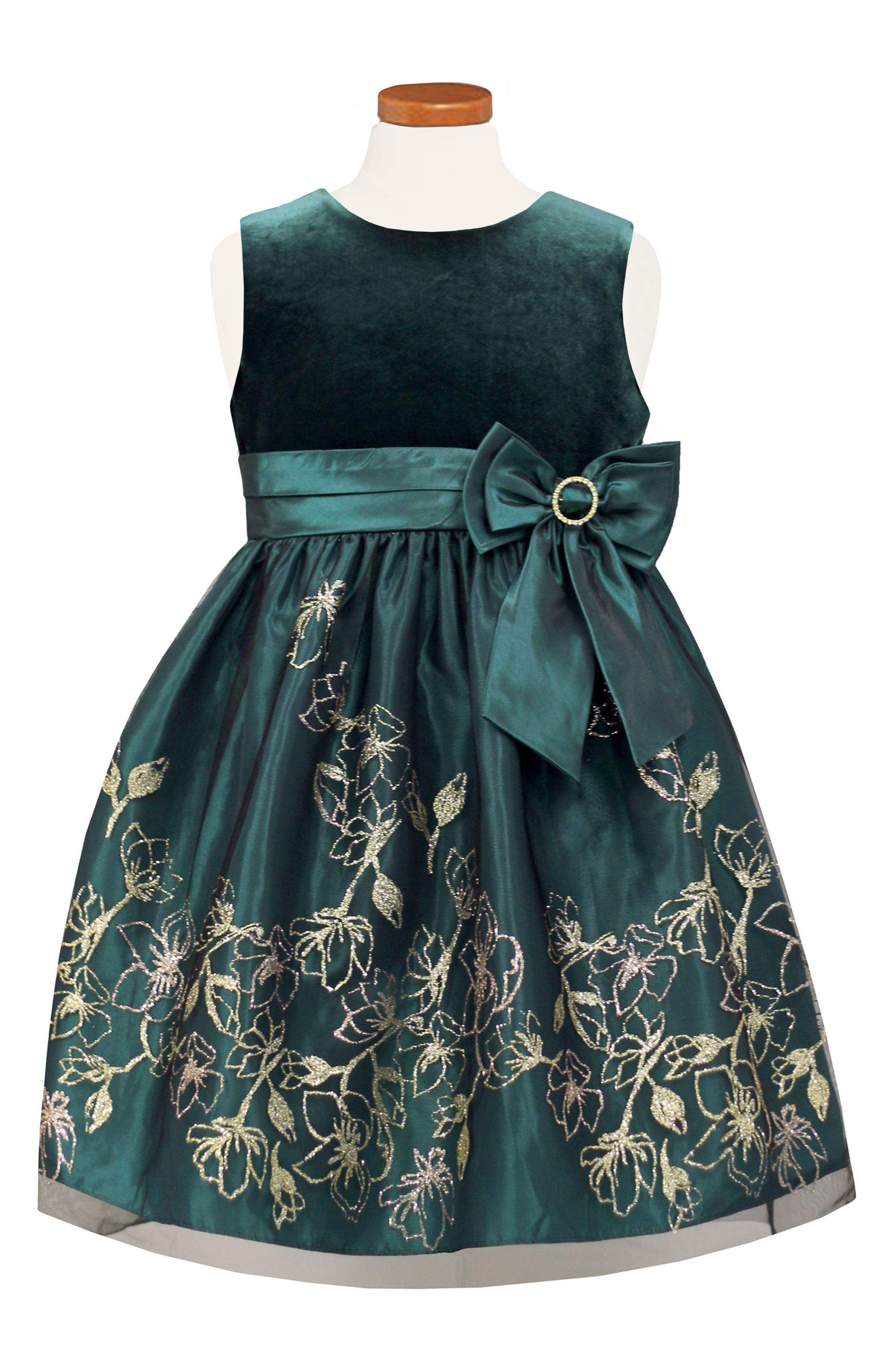 Sorbet Velvet Bodice Fit & Flare Dress (Big Girls)