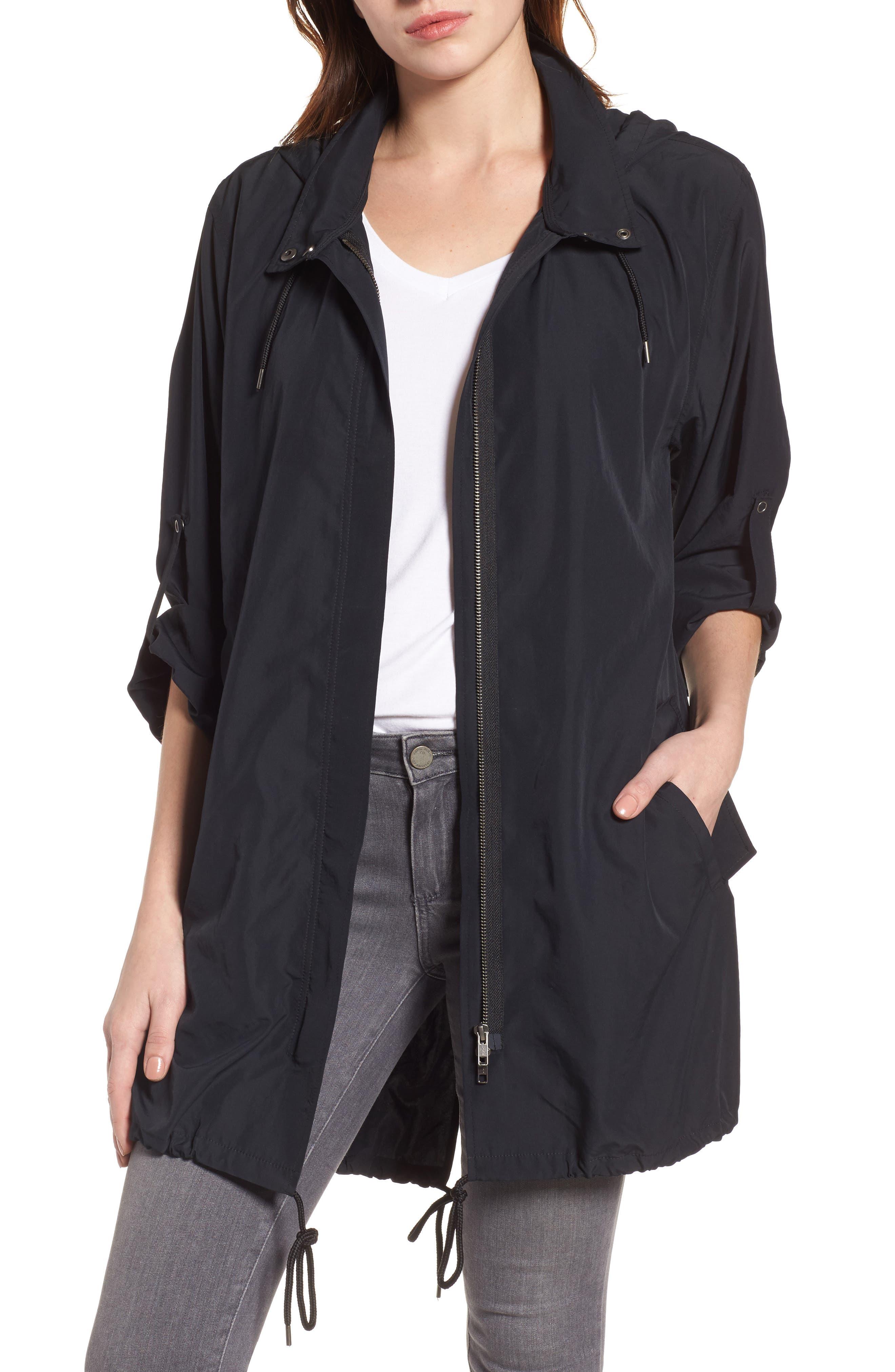Tumbled Anorak Jacket,                             Main thumbnail 1, color,                             Black