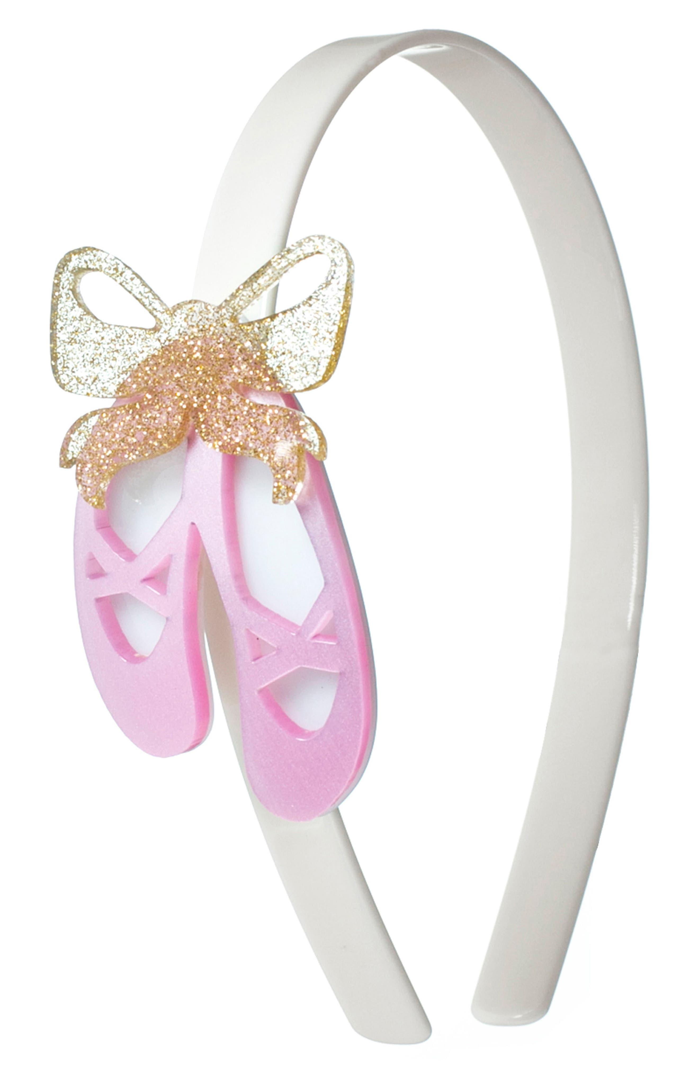 Lilies & Roses NY Ballet Slipper Headband,                         Main,                         color, Pink/ White