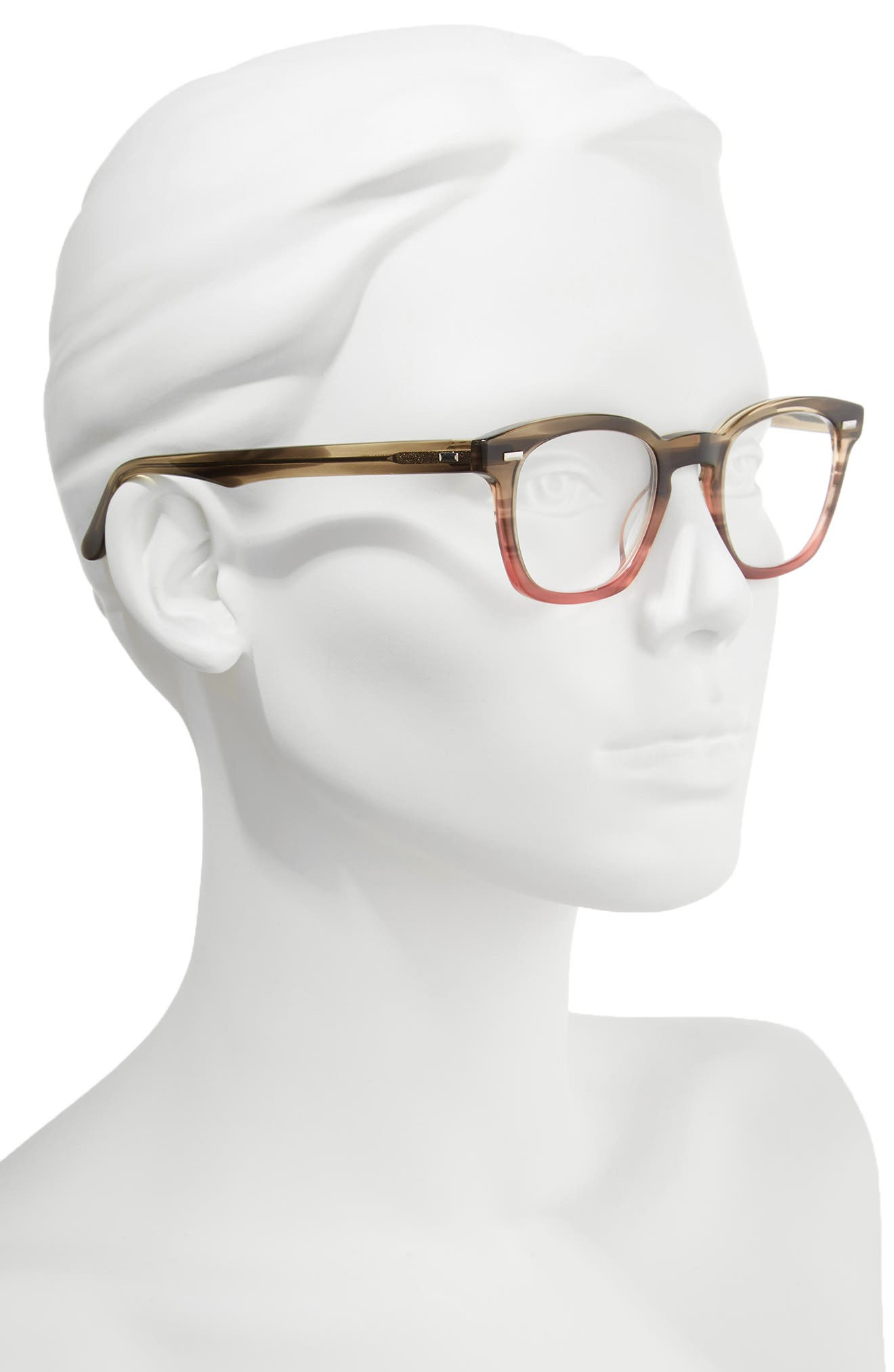 Annie 46mm Reading Glasses,                             Alternate thumbnail 2, color,                             Taupe Fade Berry