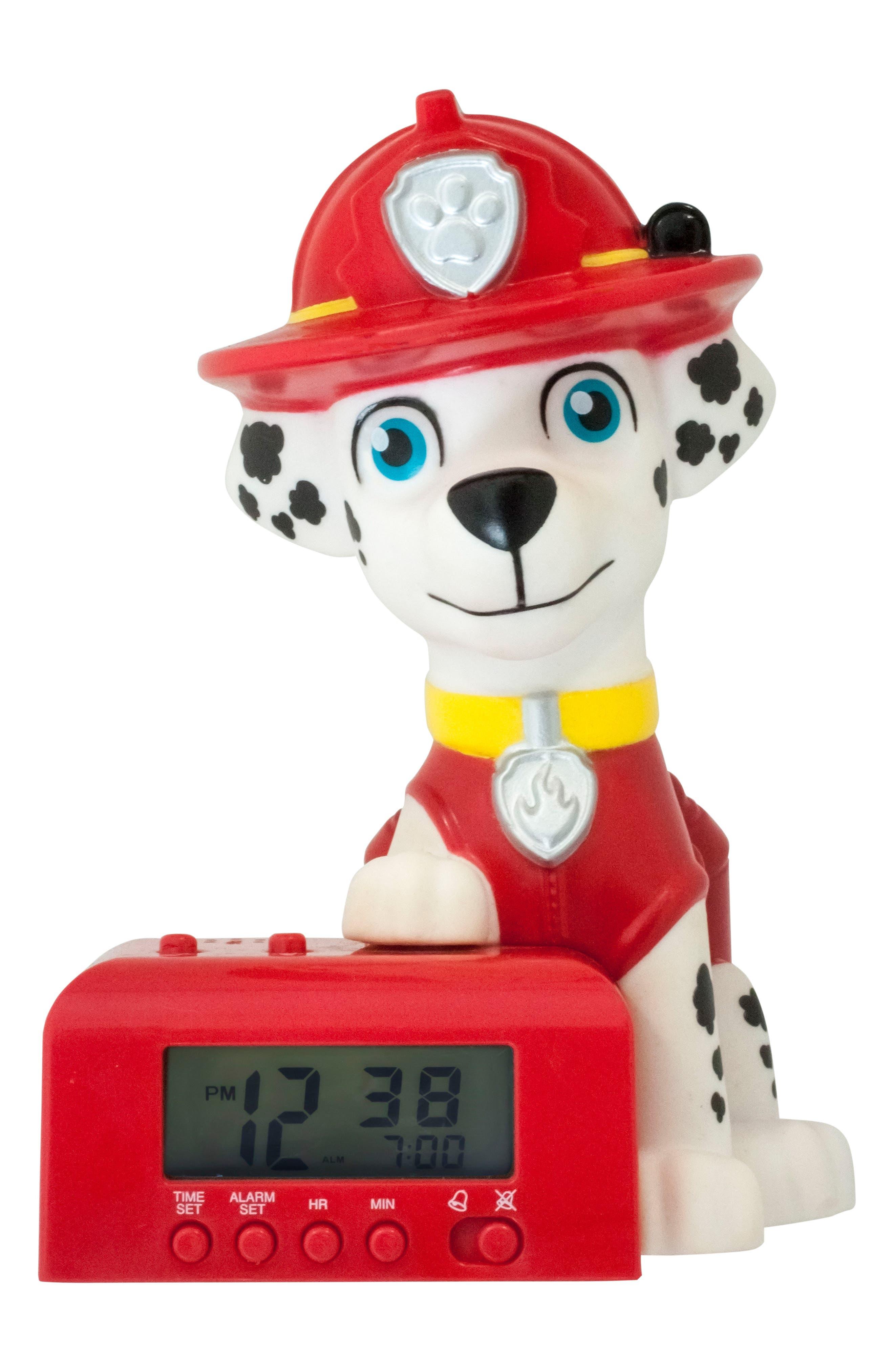 Paw Patrol - Marshall Night-Light/Alarm Clock,                         Main,                         color, Blue