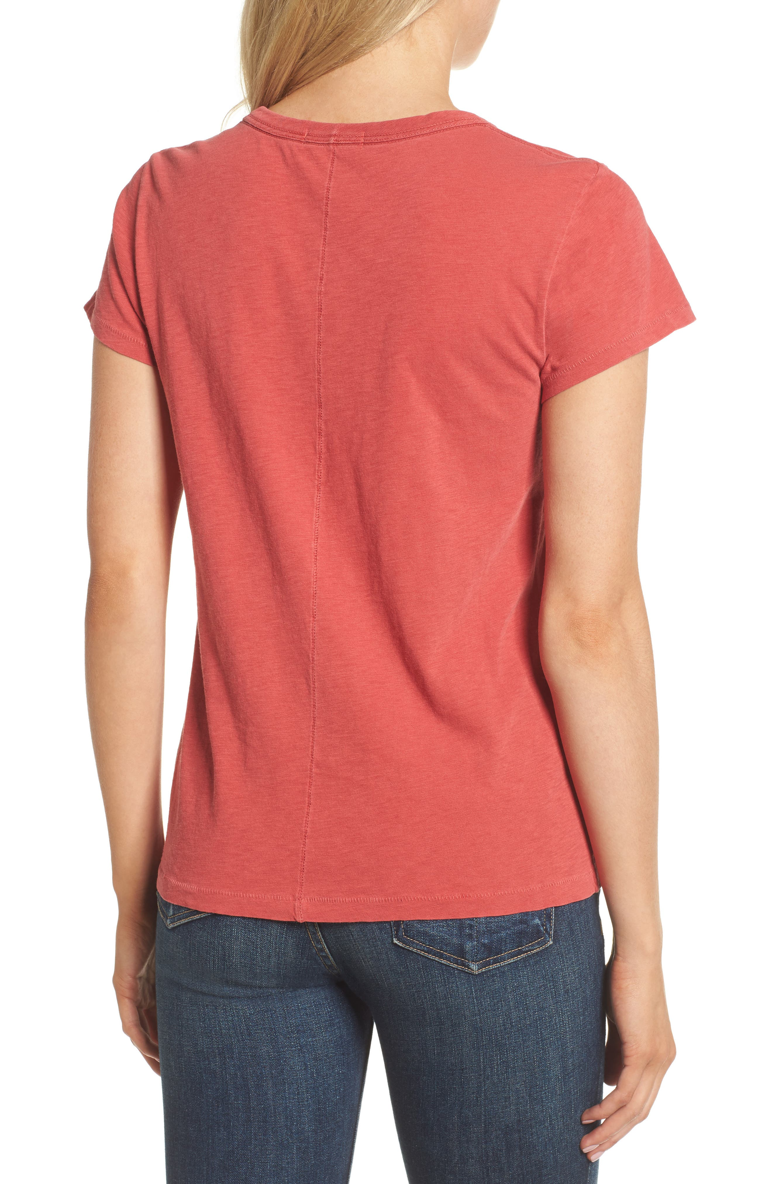 The Tee,                             Alternate thumbnail 2, color,                             Washed Red