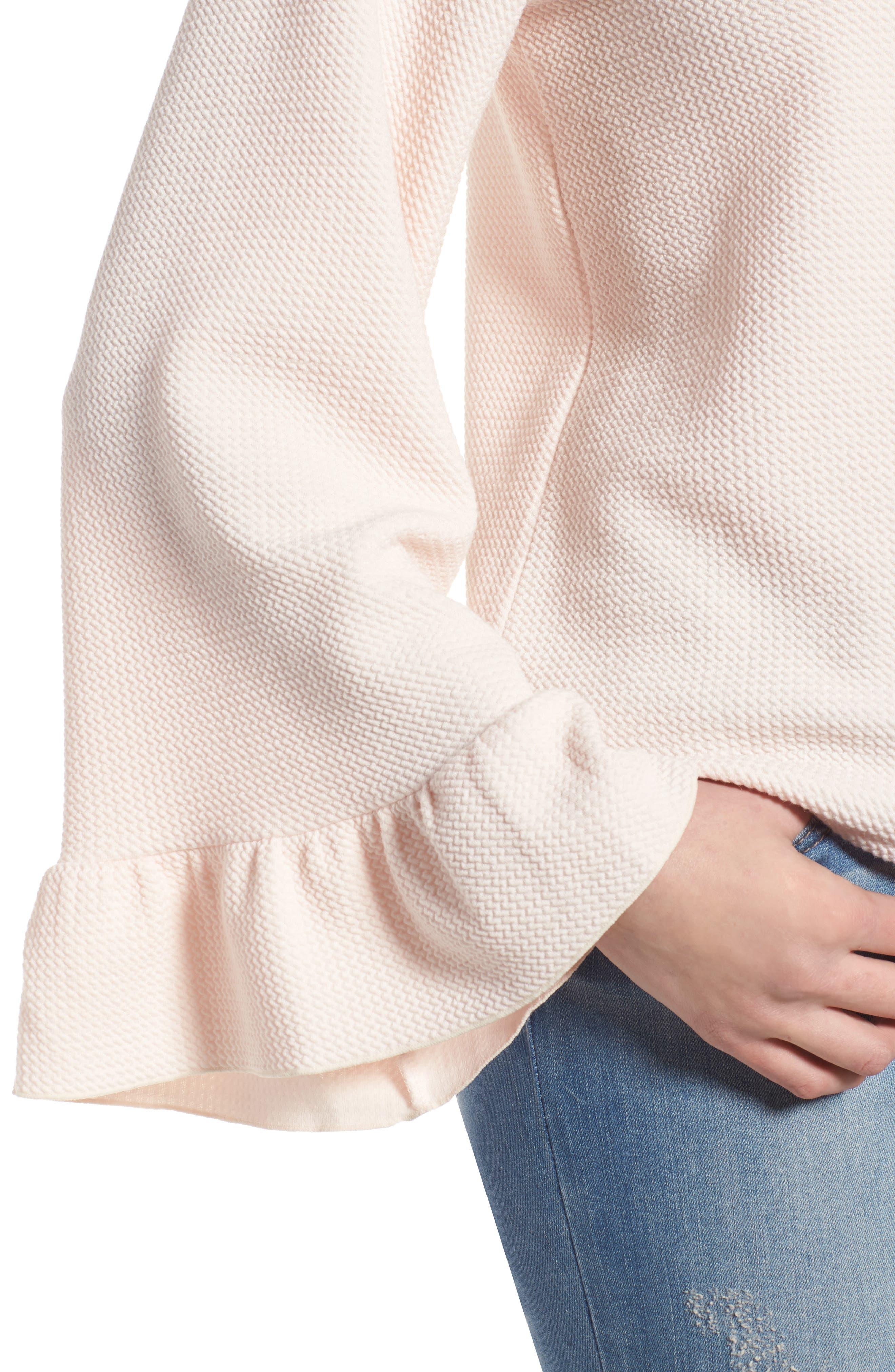 Alternate Image 4  - Halogen® Ruffle Cuff Knit Top (Regular & Petite)