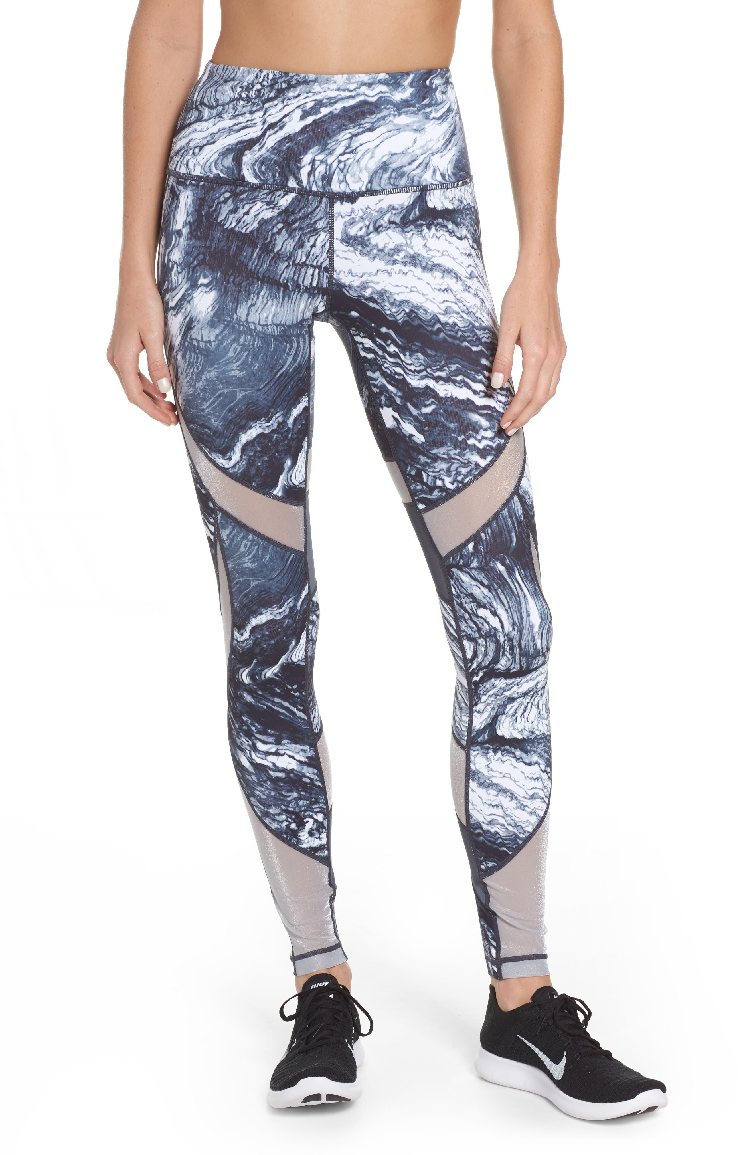 Define High Waist Leggings,                         Main,                         color, Grey Graphite Crystalline Prt