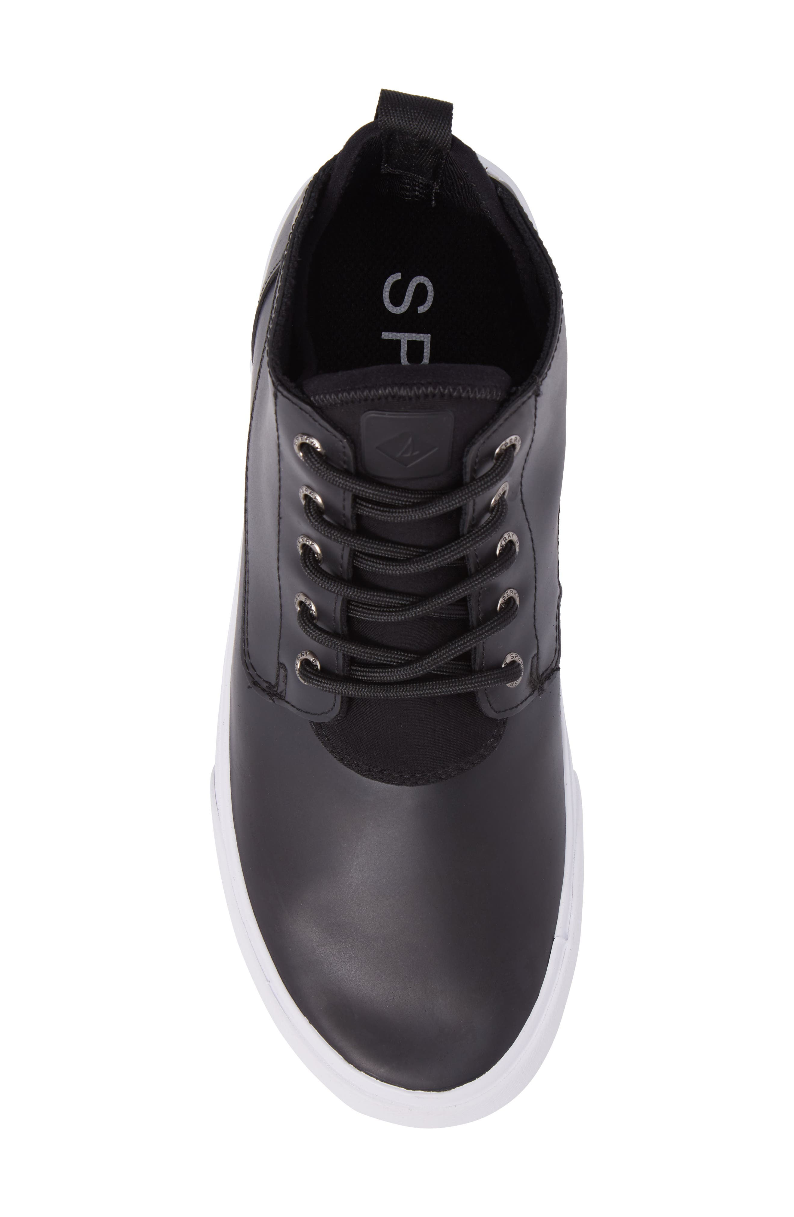 Cutwater Chukka Boot,                             Alternate thumbnail 5, color,                             Black Leather