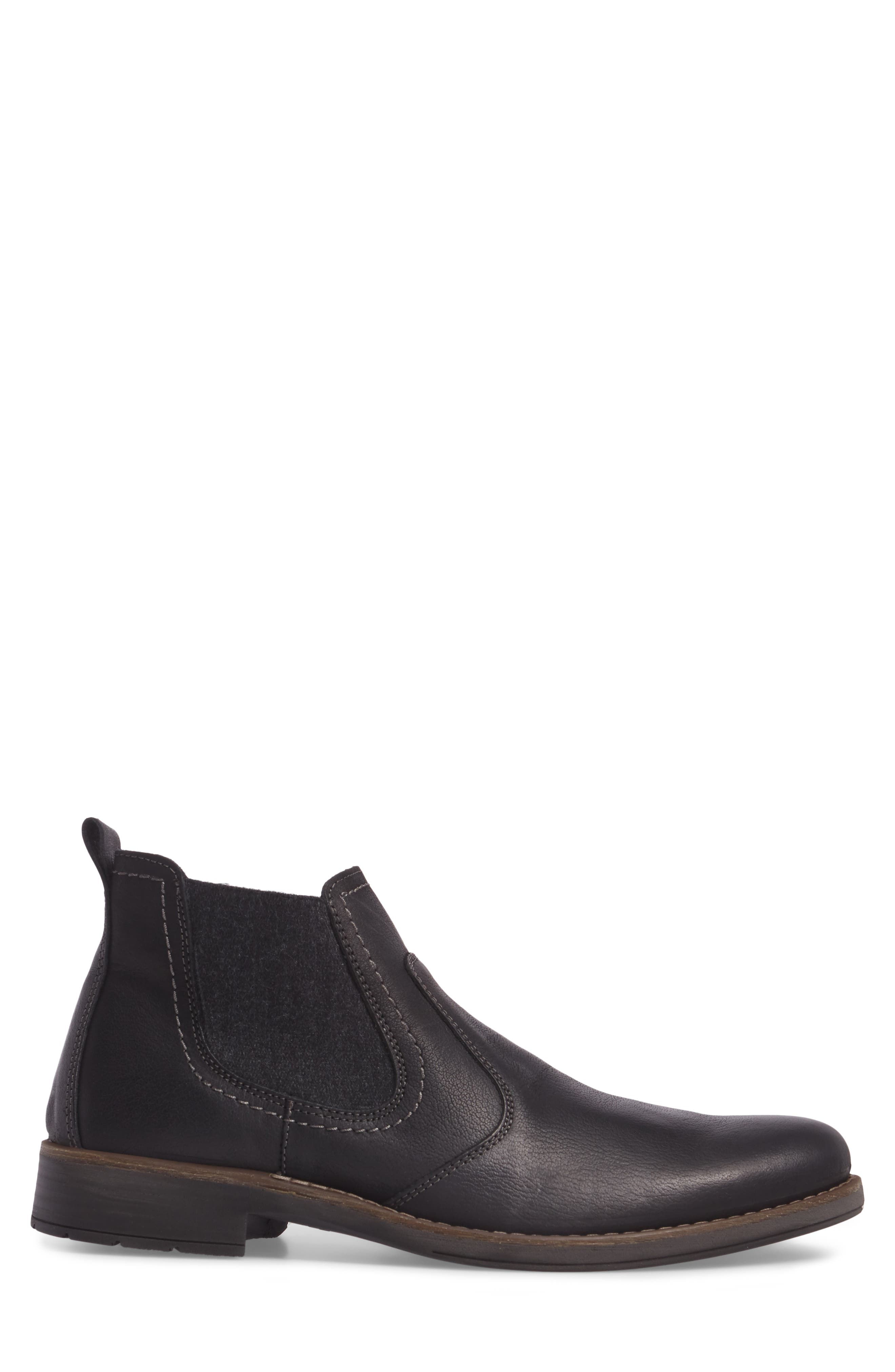 Spokane Chelsea Boot,                             Alternate thumbnail 3, color,                             Black Leather