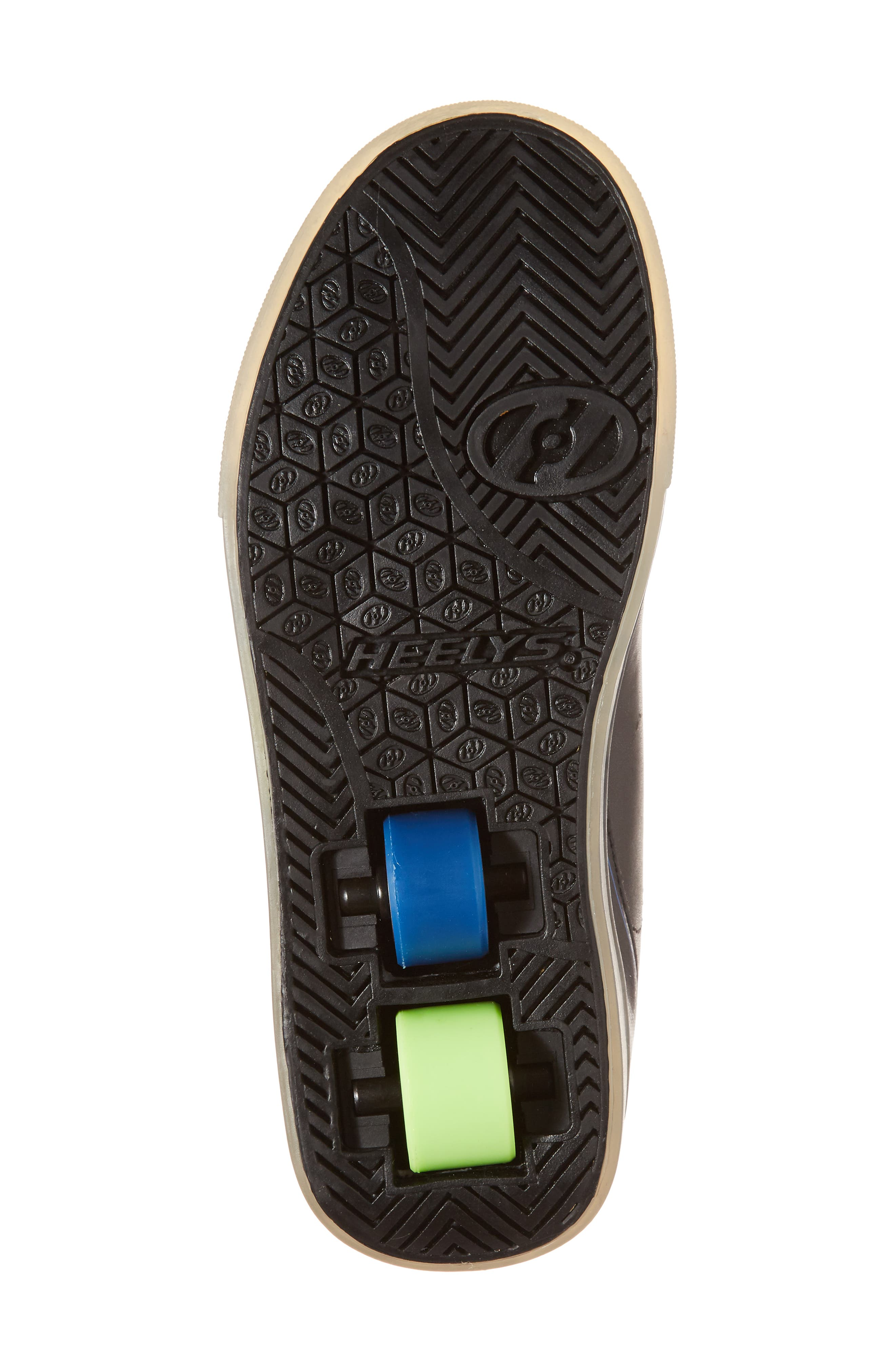 Pow X2 Light-Up Wheeled Skate Sneaker,                             Alternate thumbnail 6, color,                             Black/ Blue/ Green