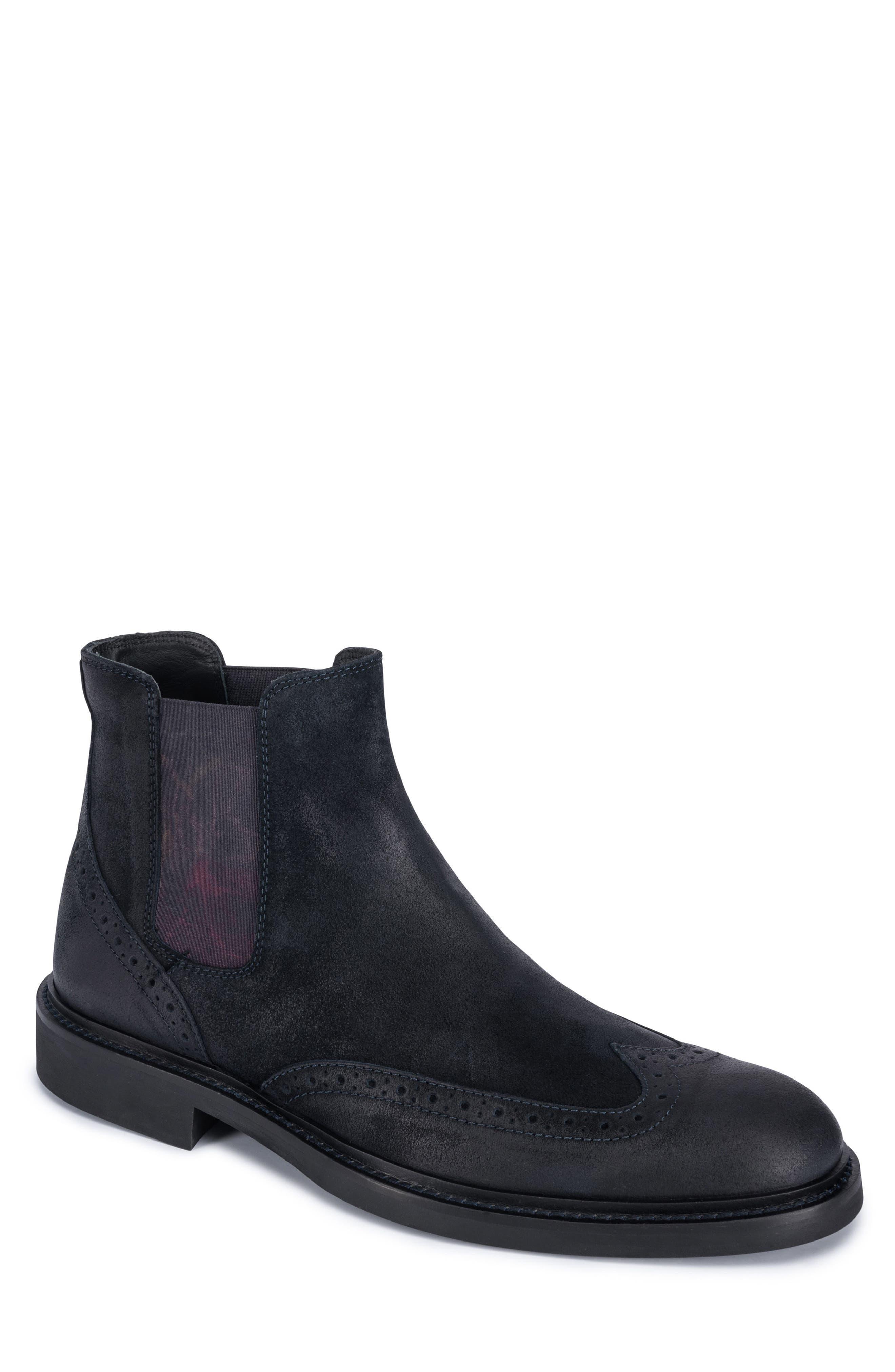 Brescia Chelsea Boot,                         Main,                         color, Navy