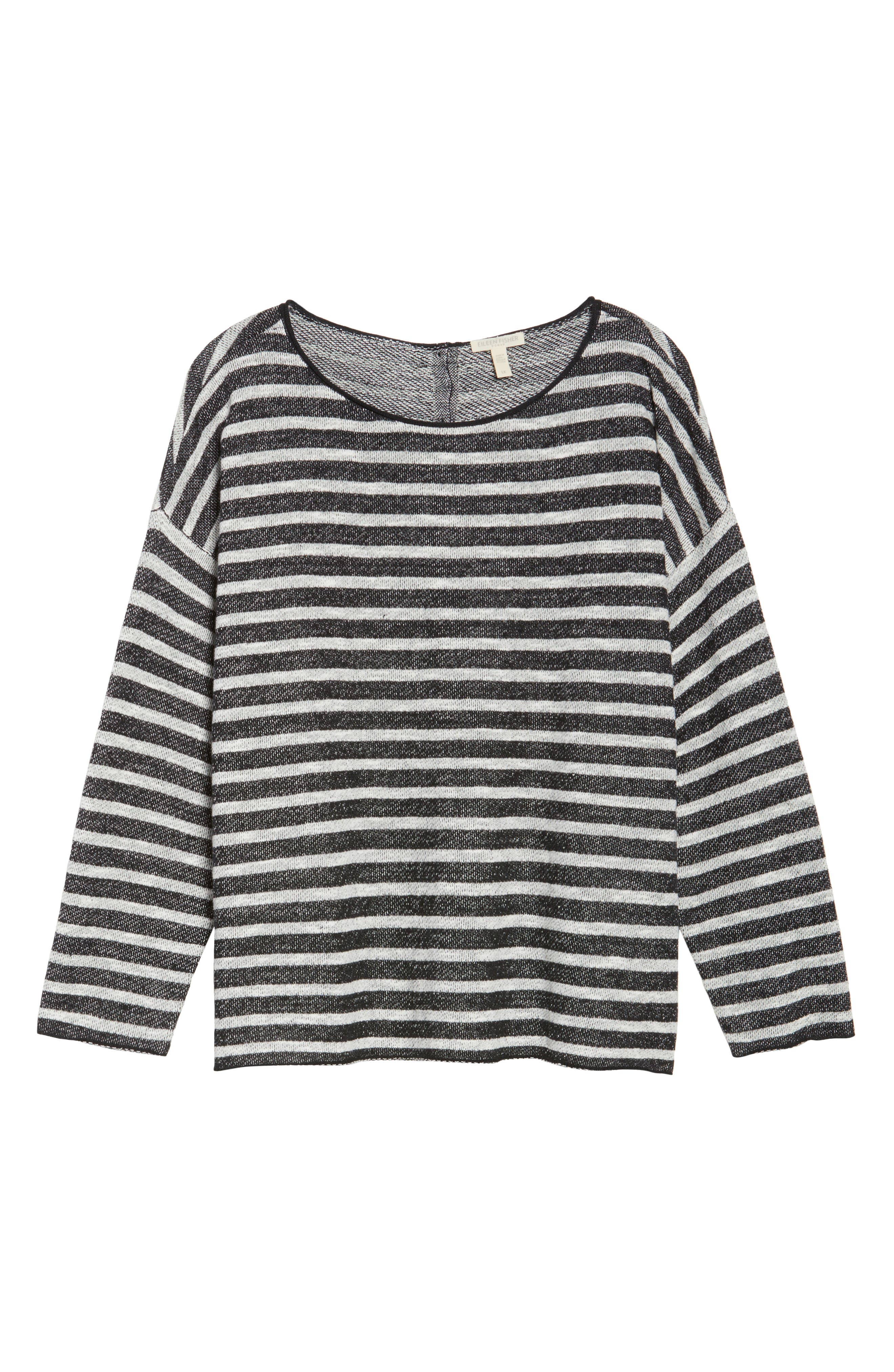 Alternate Image 6  - Eileen Fisher Striped Pullover (Plus Size)