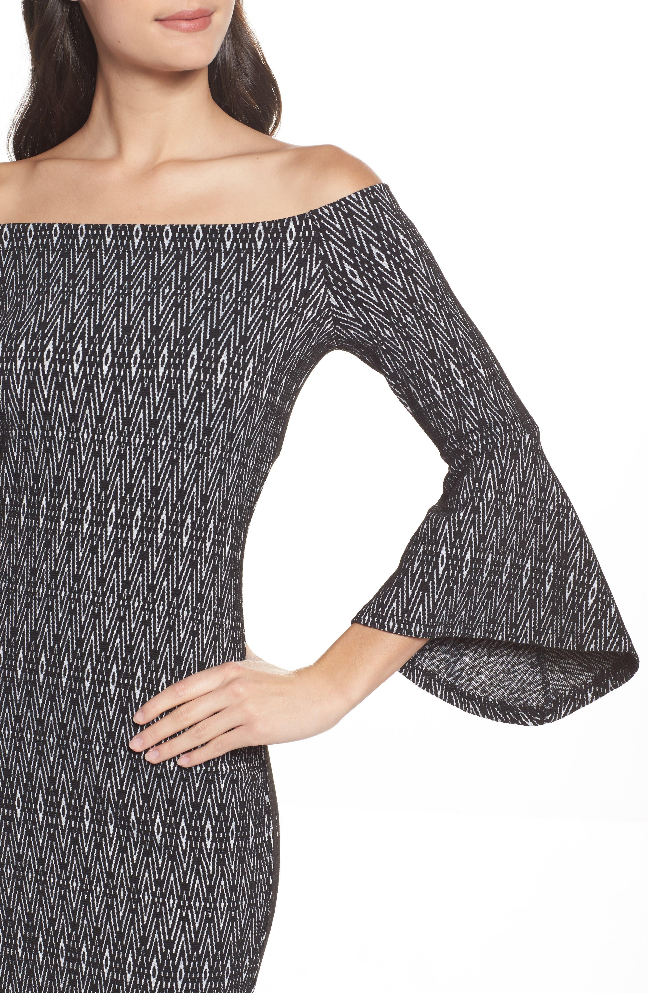Alternate Image 4  - THML Off the Shoulder Sheath Dress