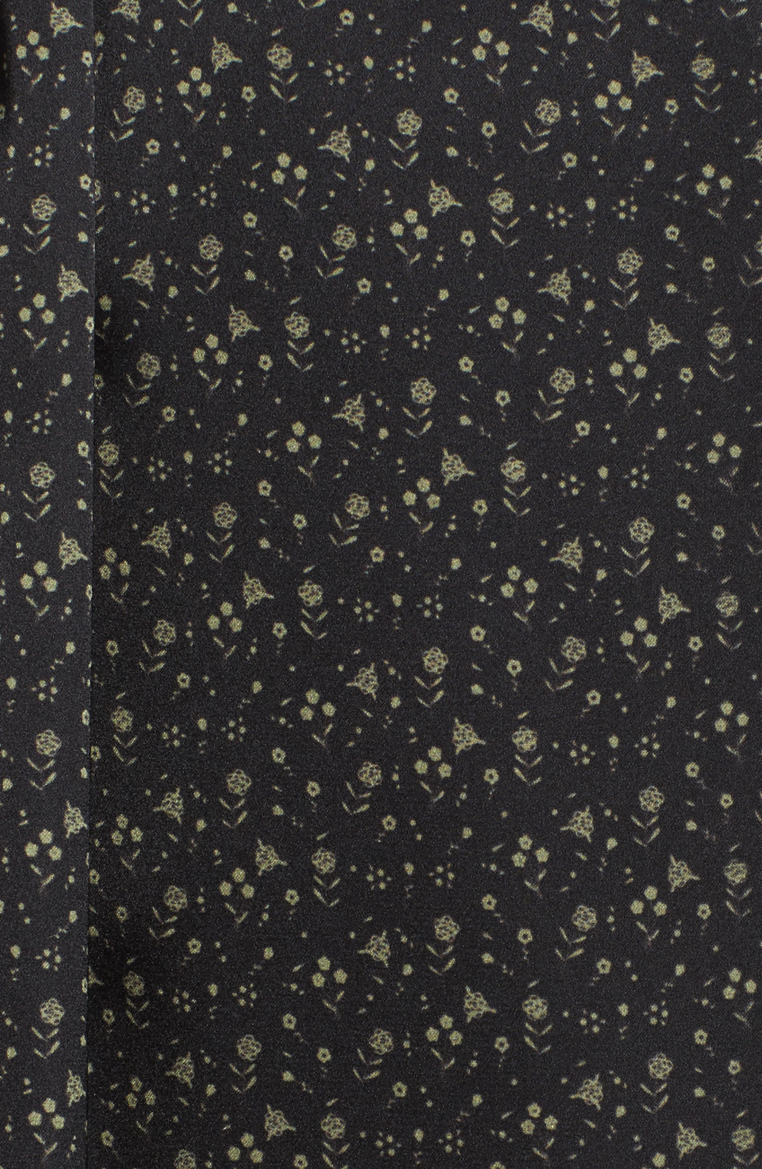 Alternate Image 6  - Bed to Brunch Print Satin Robe