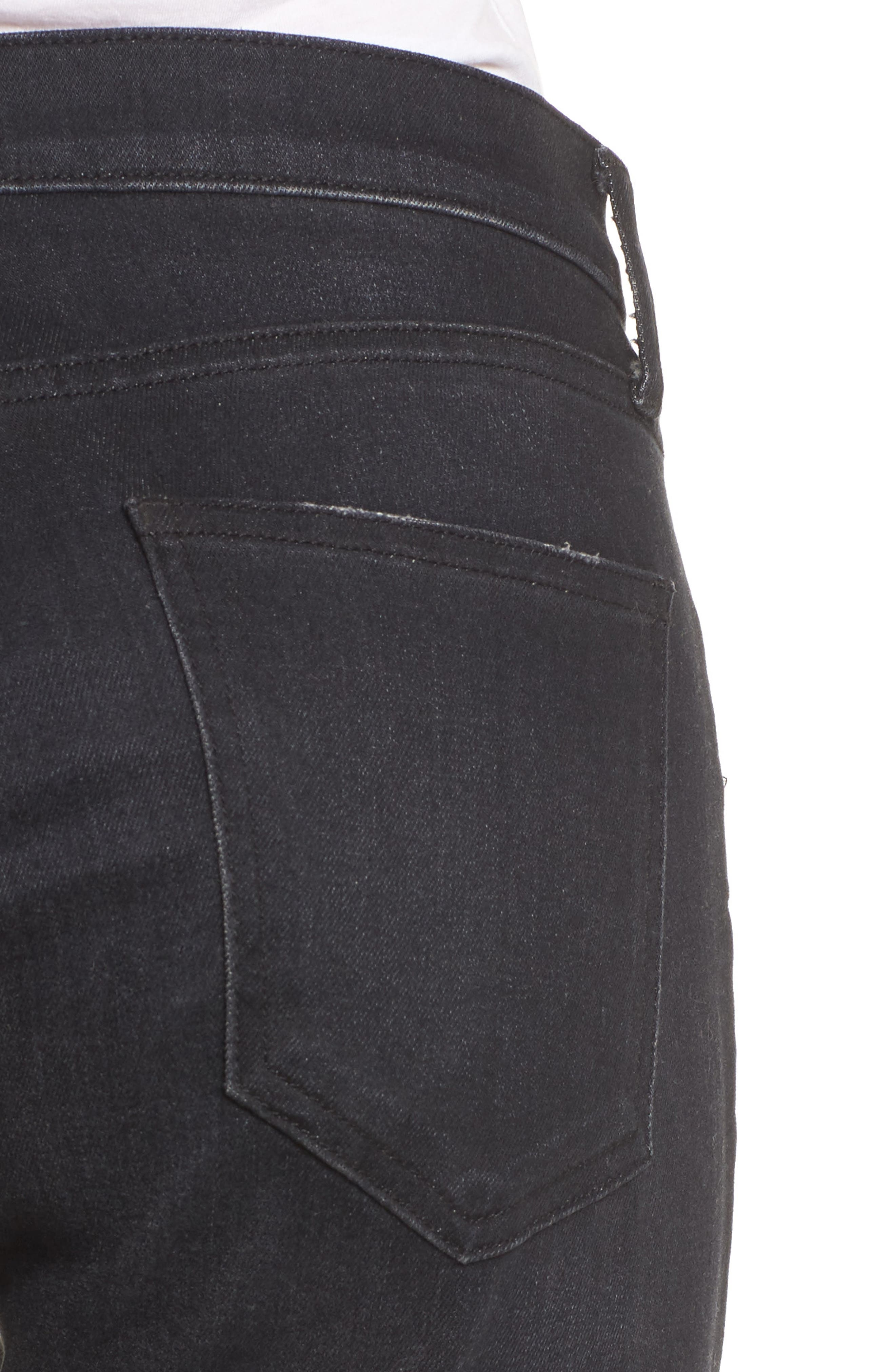 The Stiletto High Waist Ankle Skinny Jeans,                             Alternate thumbnail 4, color,                             Yuma Clean